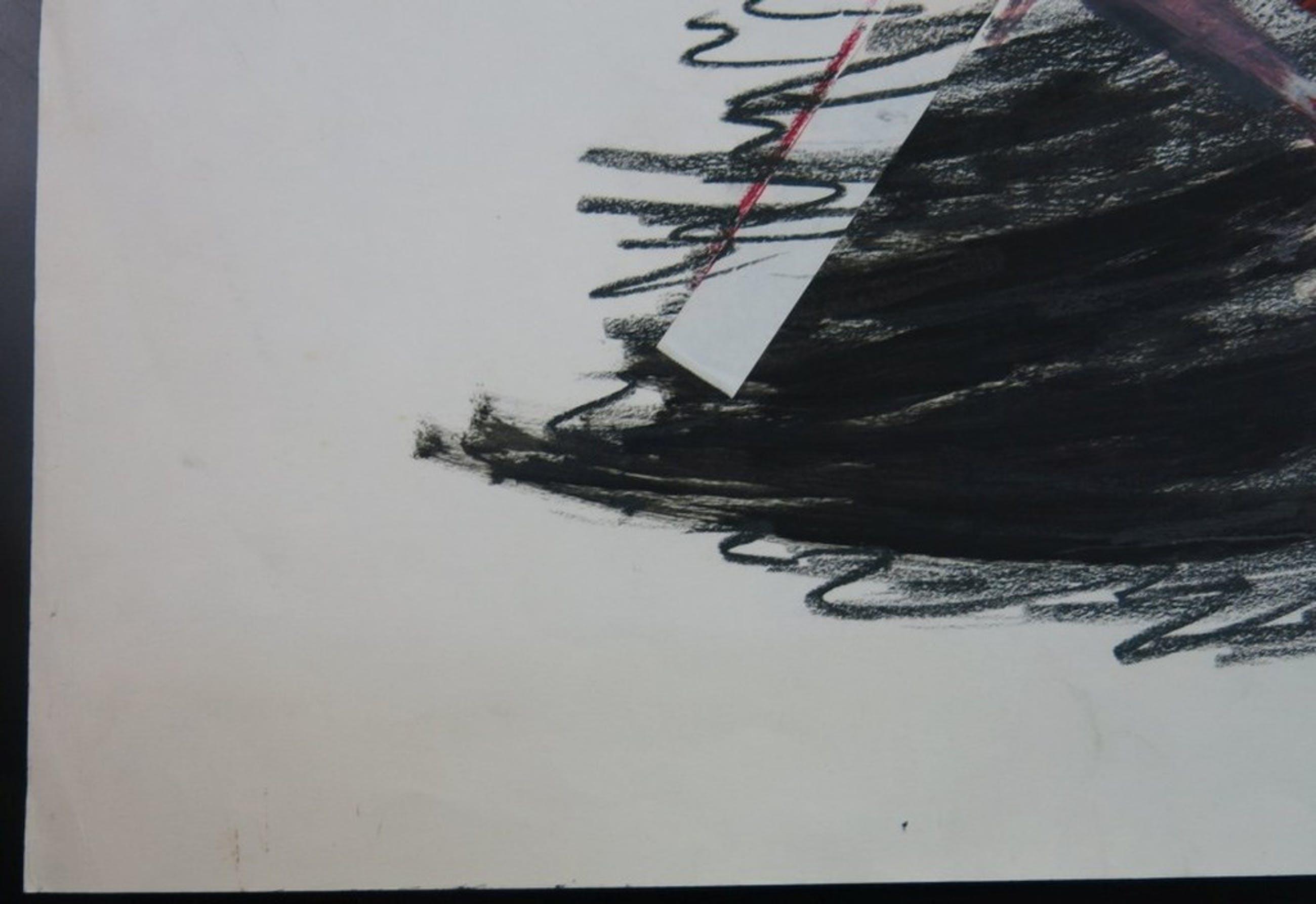 Onbekend gesigneerd: Gemengde techniek, Abstracte voorstelling kopen? Bied vanaf 1!