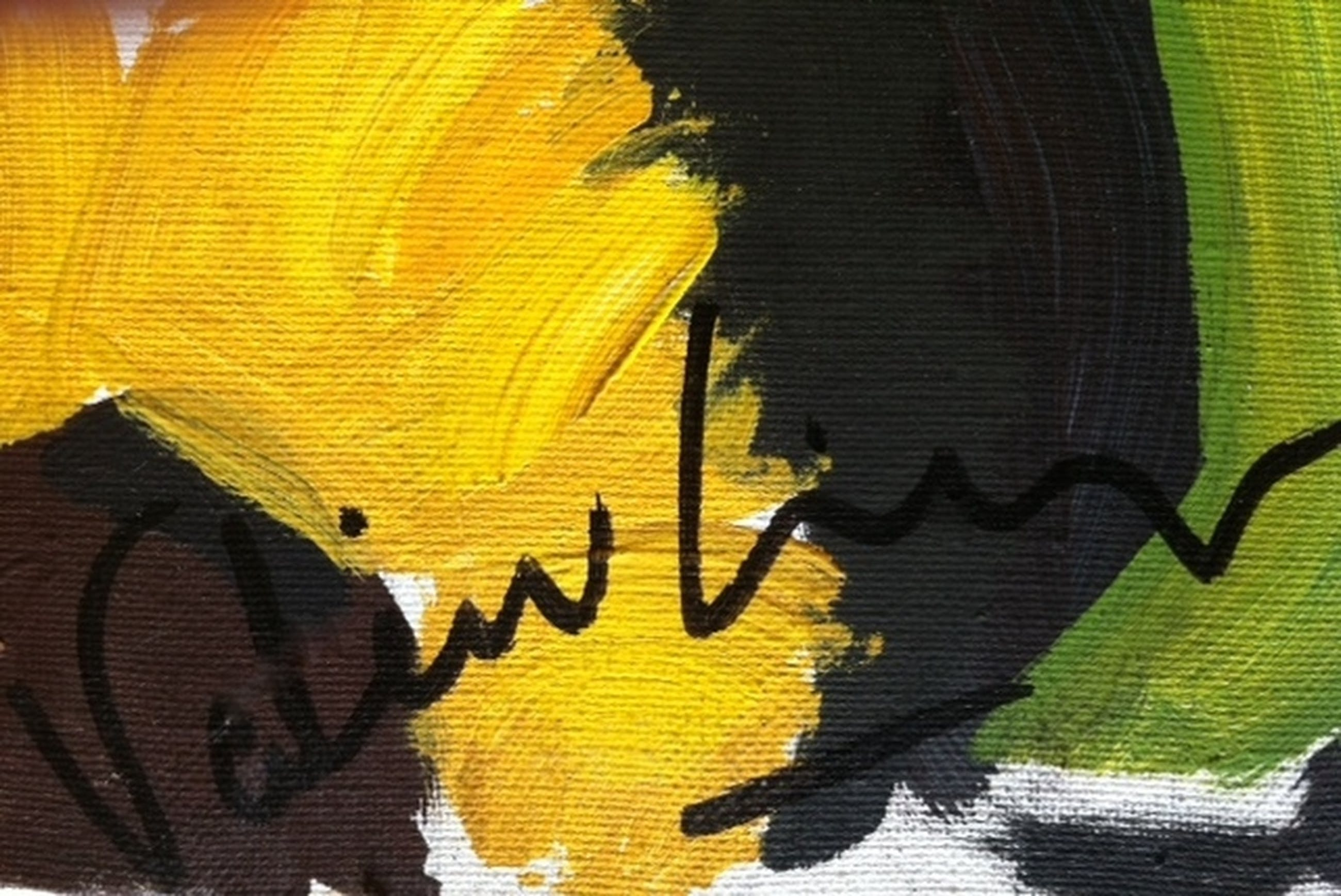 Olieverf schilderij ZONNEBLOEMEN -Brigitte Valin- Frankrijk 73 X 60 cm. kopen? Bied vanaf 35!