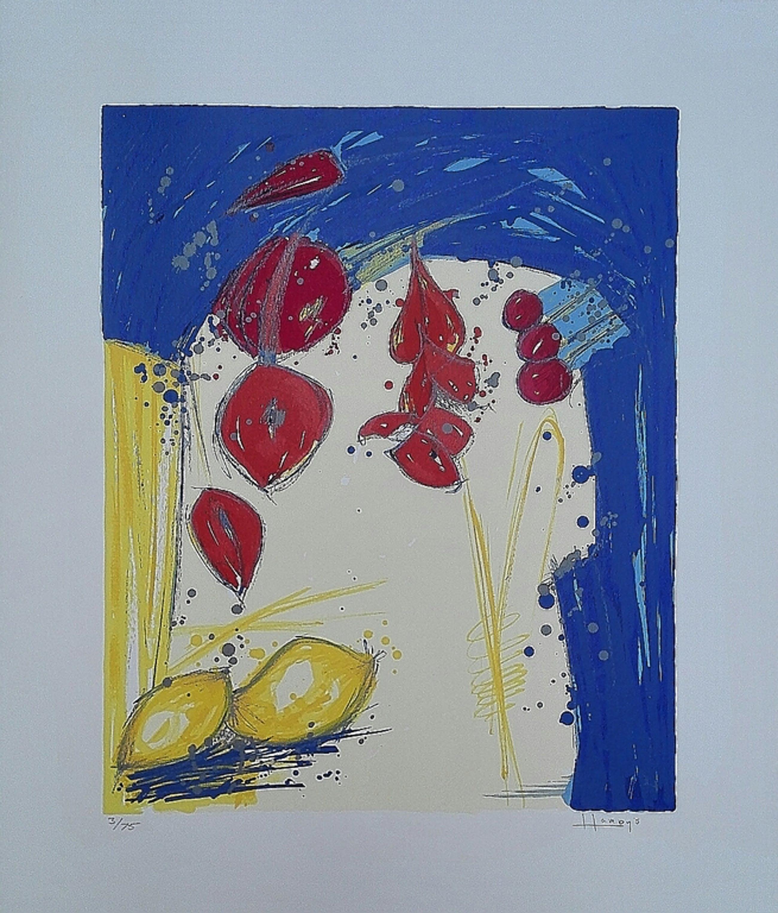 Ad van Hassel, zeefdruk op papier, Titel: Citroenen  kopen? Bied vanaf 1!