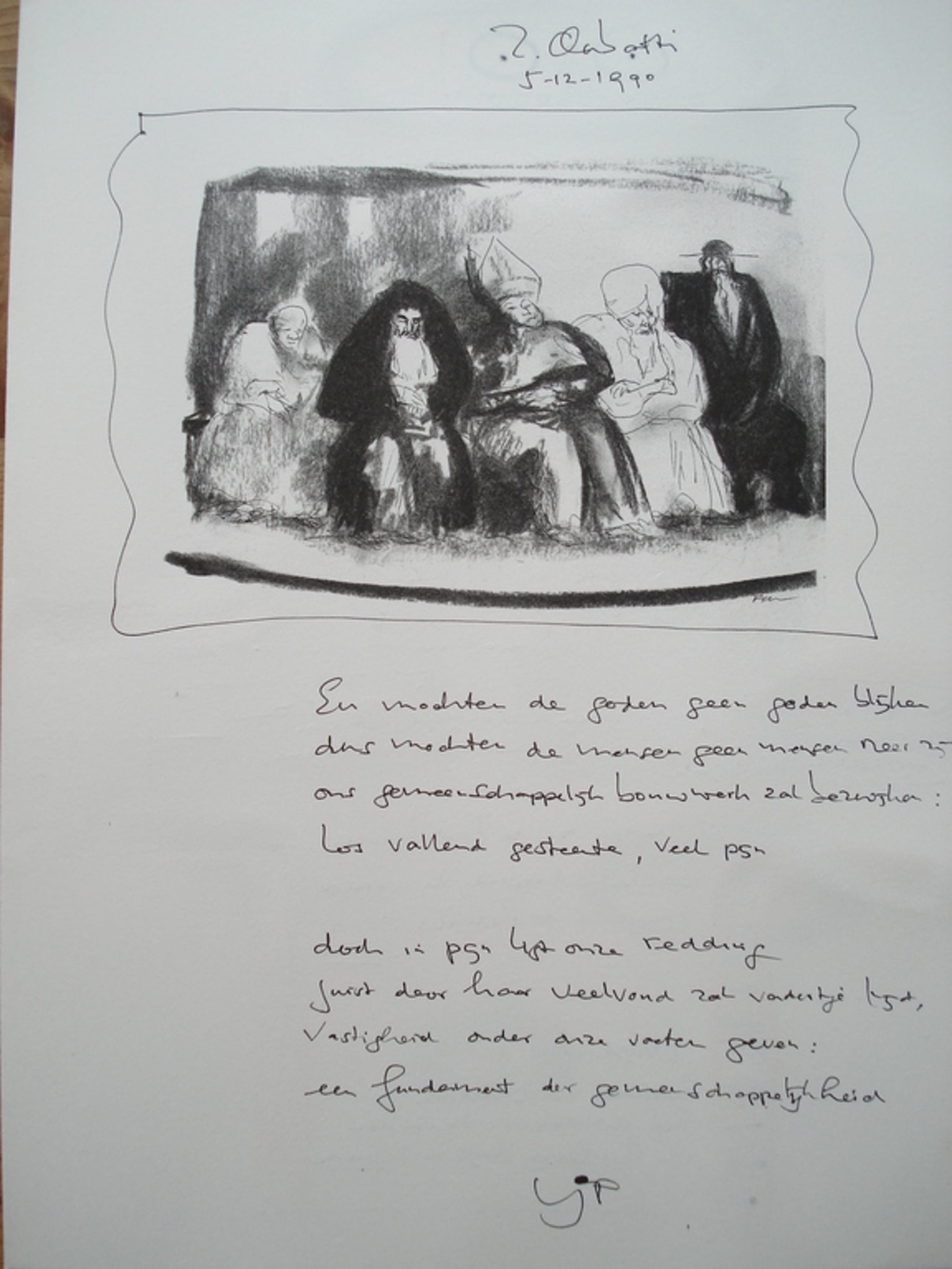 Z. Clabatti Acryl op litho/gedichten. Tekeningen L. Filcer kopen? Bied vanaf 1!