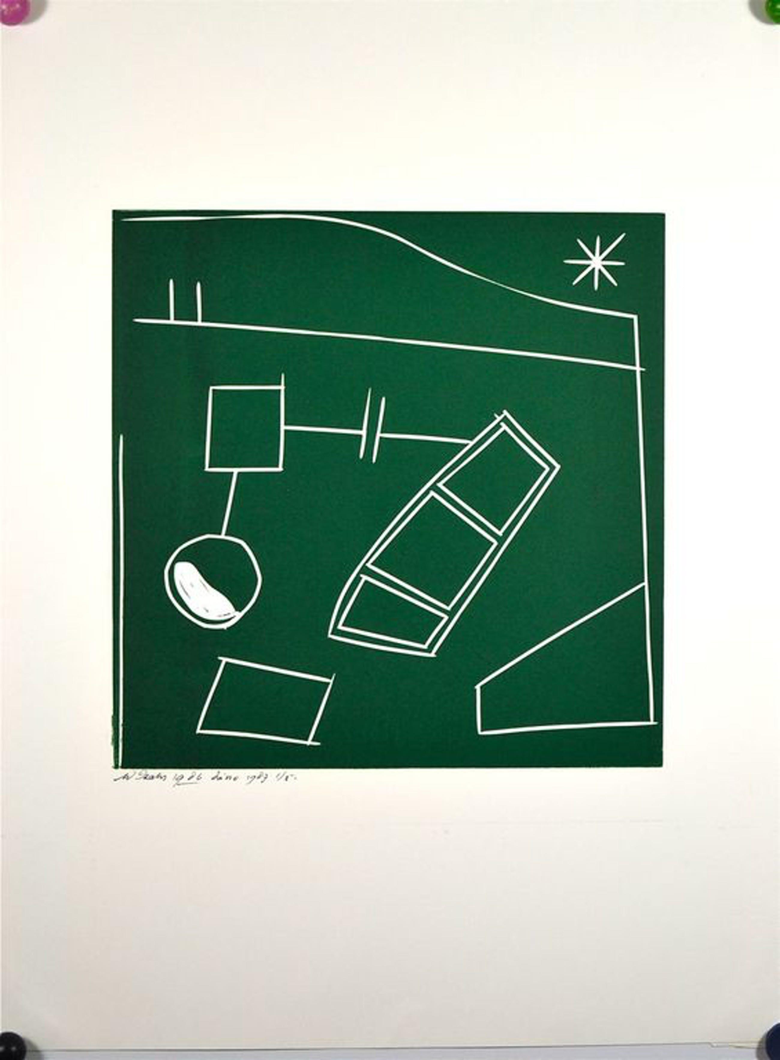 Wim Izaks: Linosnede. Abstracte compositie kopen? Bied vanaf 70!