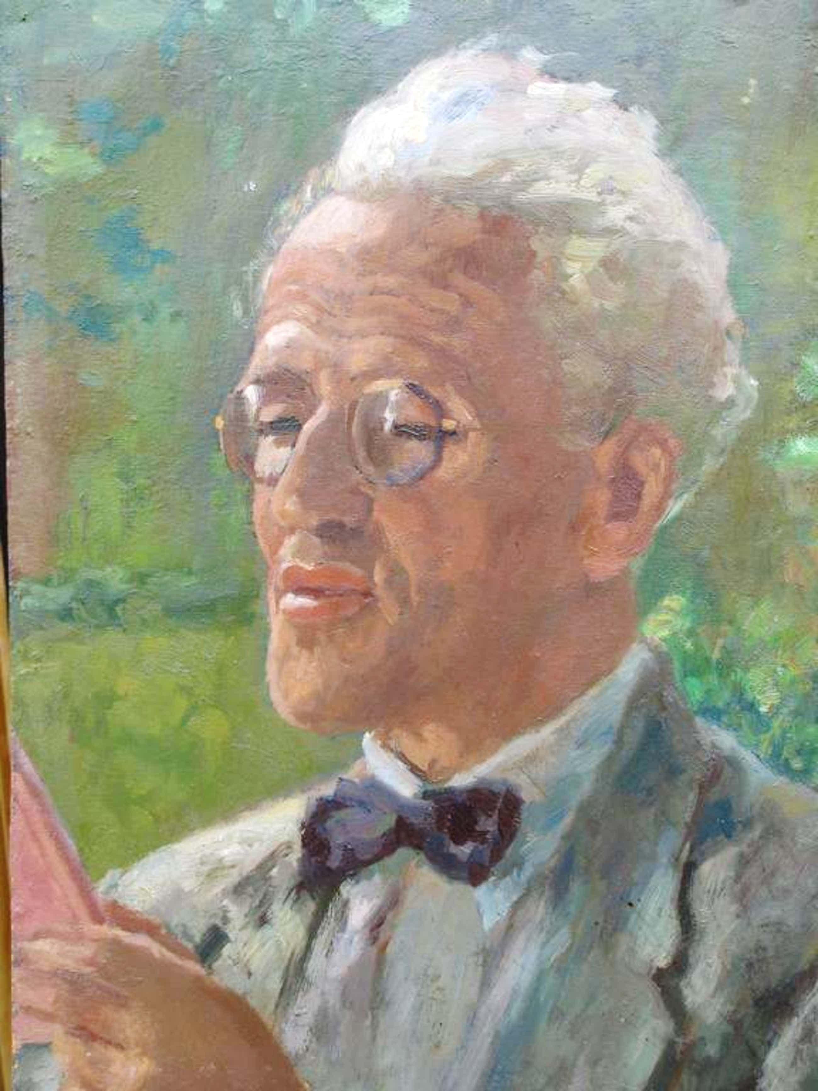 Paul Schultze, Olieverf op board, Portret van Alfred Löb kopen? Bied vanaf 90!
