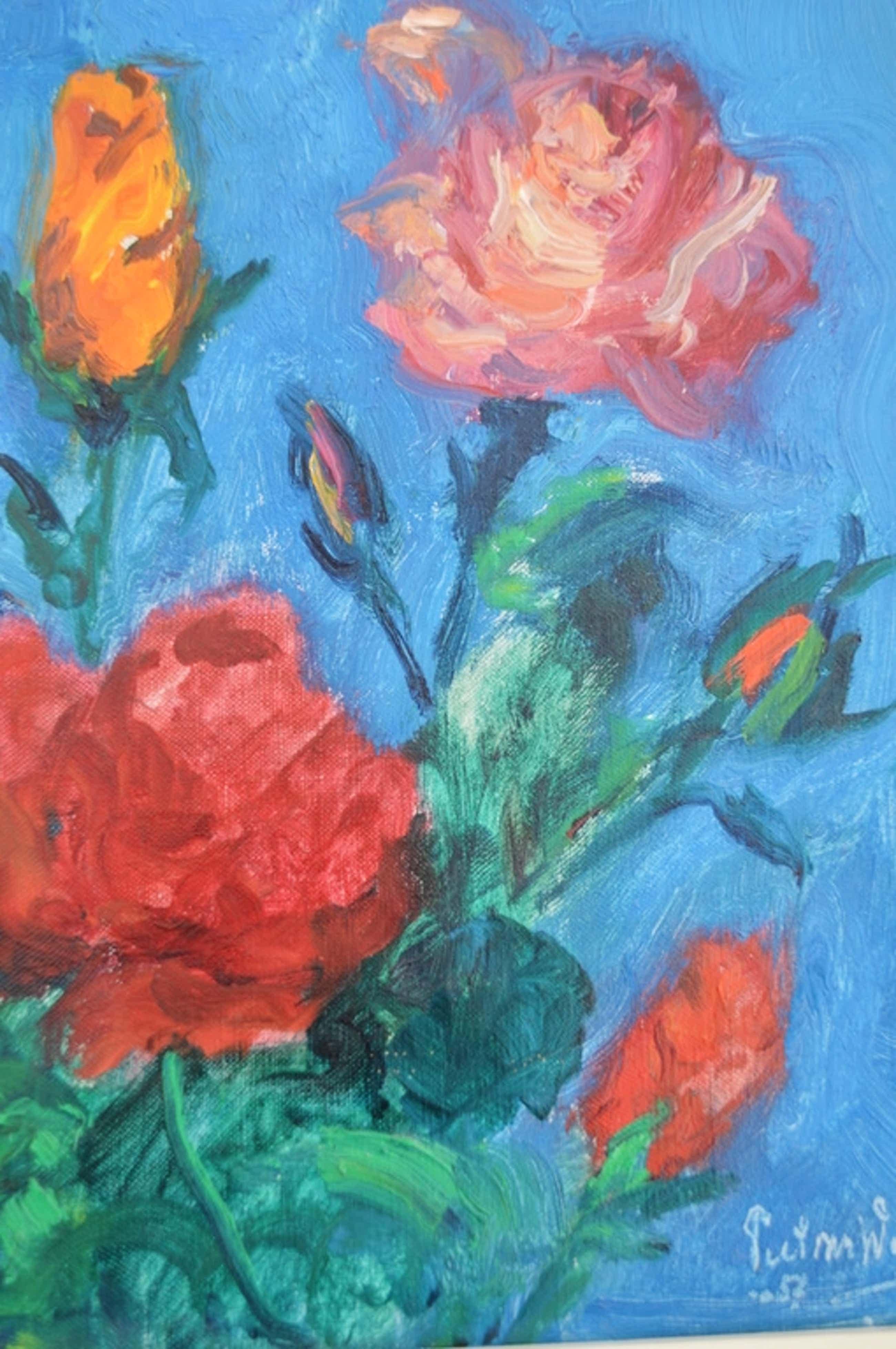 Piet van Wijngaerdt - bloemstilleven met rozen kopen? Bied vanaf 325!
