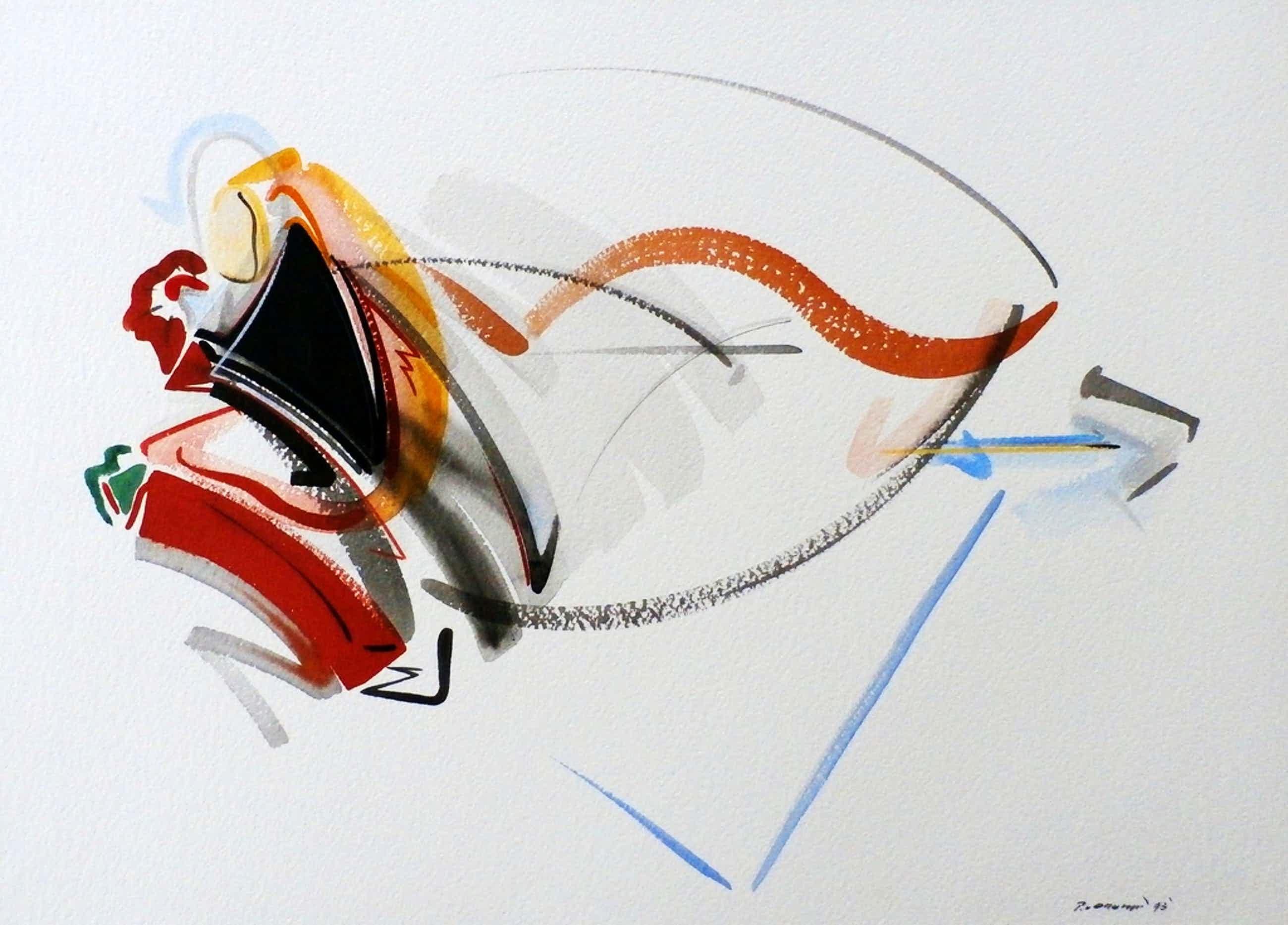 Peter van Drumpt - aquarel - 1993 kopen? Bied vanaf 55!