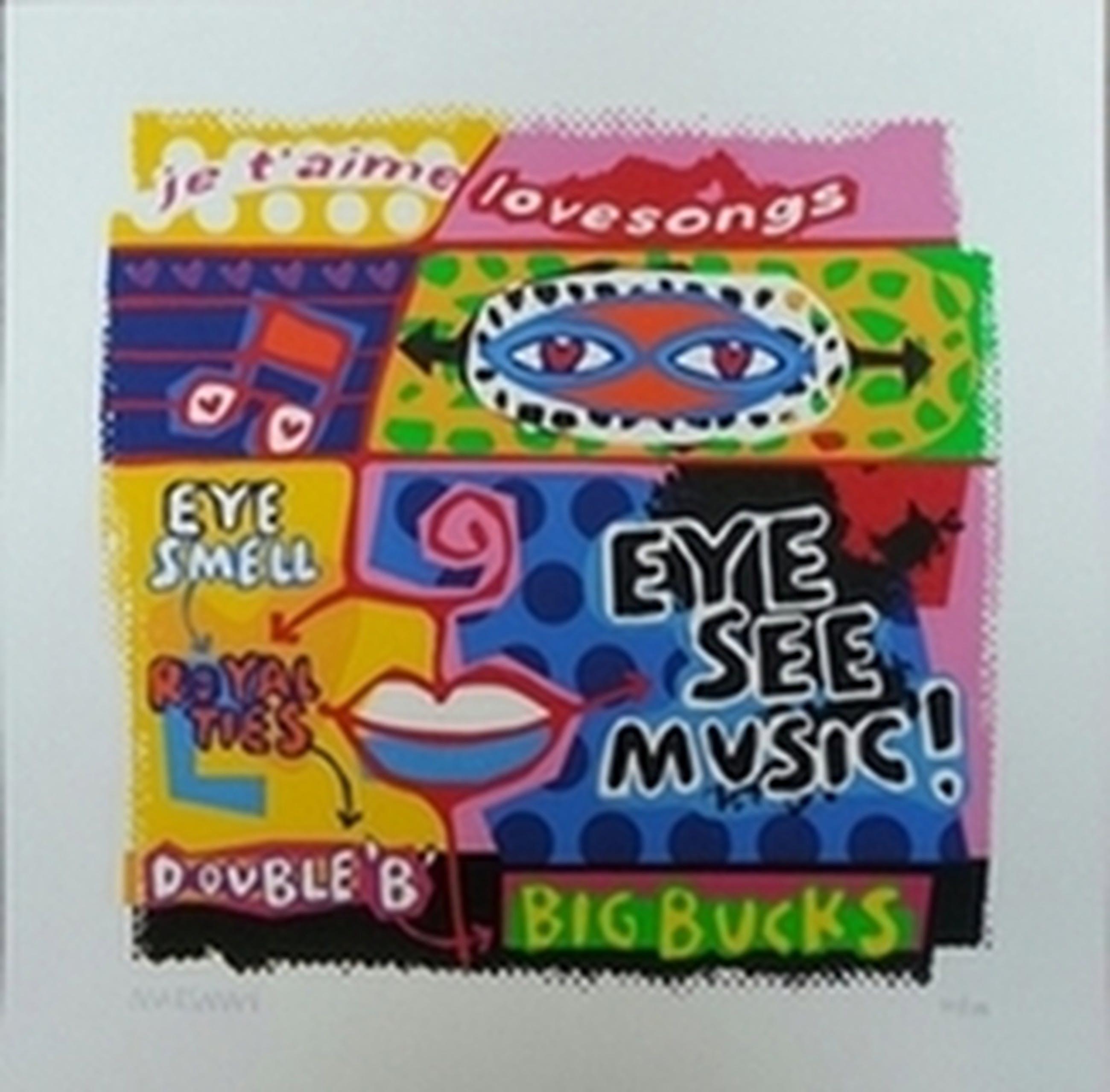 """Jean-Paul Marsman, zeefdruk op papier, Titel: """" Eye see music """" kopen? Bied vanaf 15!"""