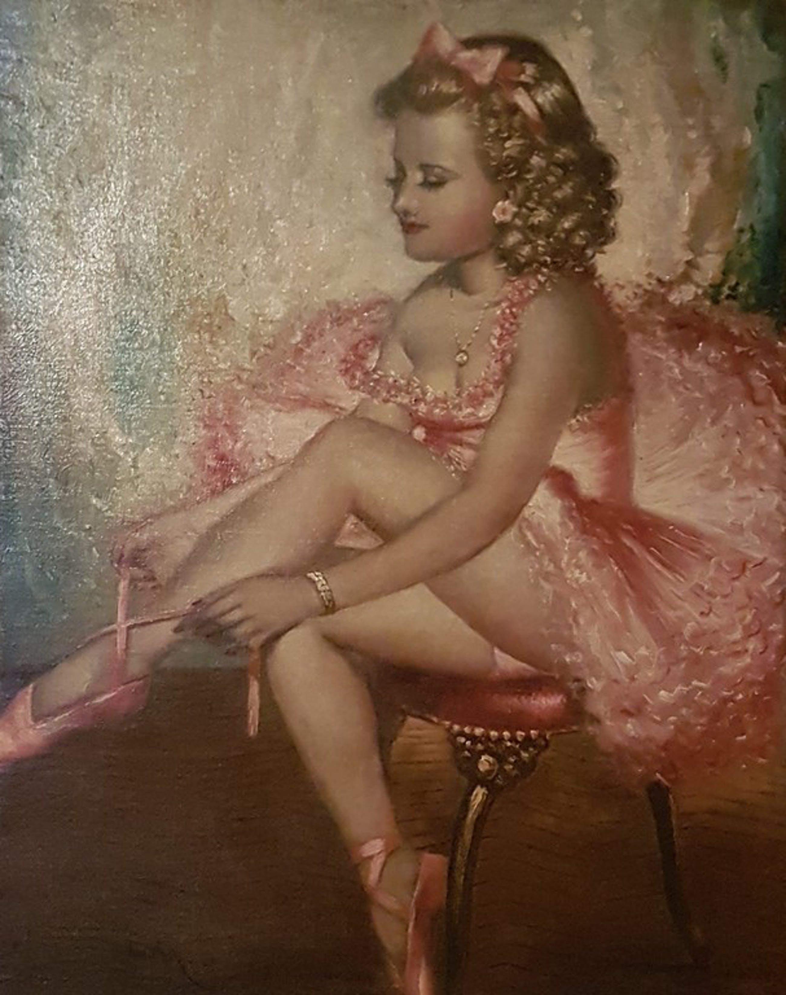 Pal Fried - Ballerina - olieverf op doek kopen? Bied vanaf 2300!