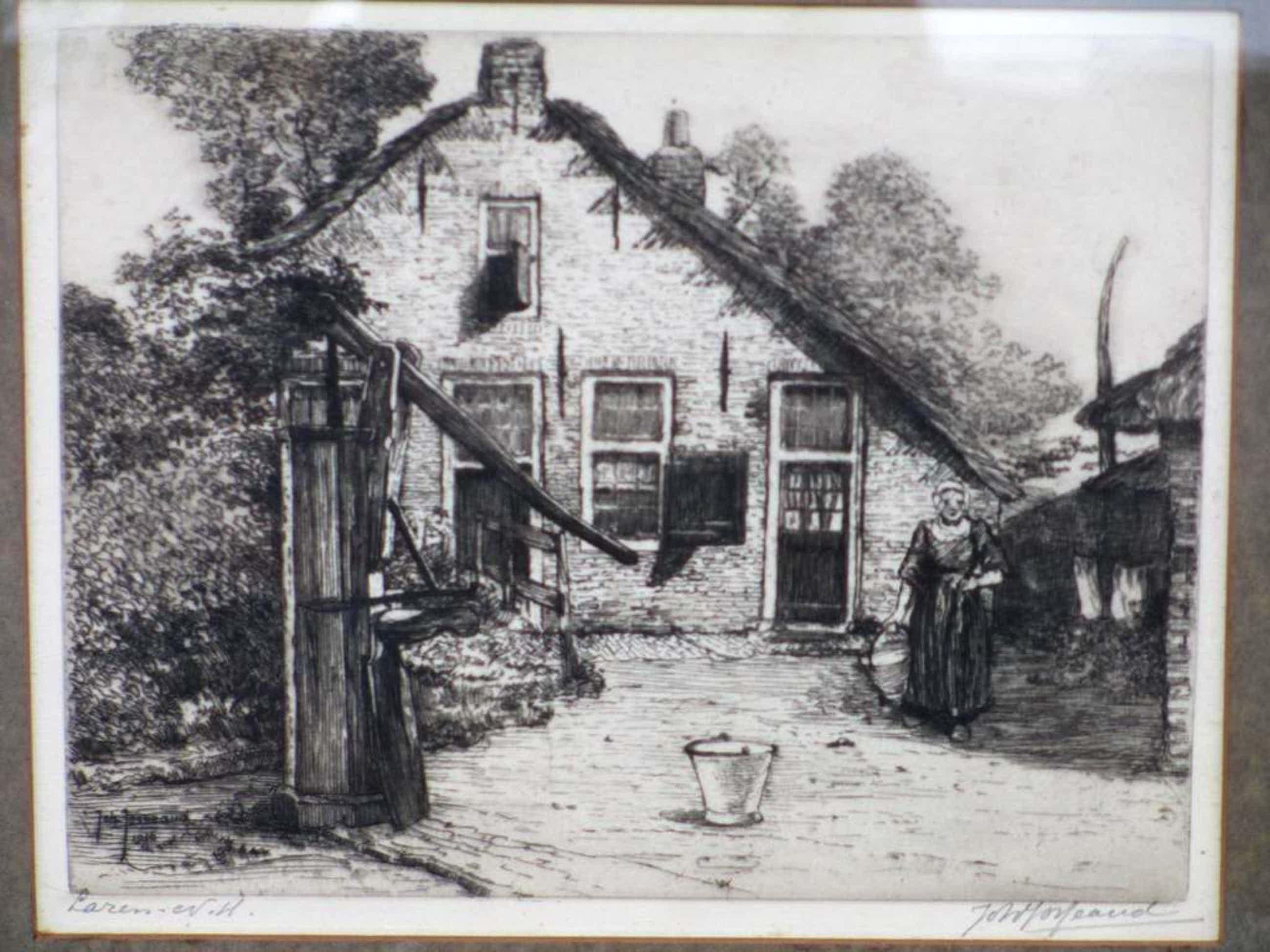 Johannes Josseaud, Boerenerf Laren, Ets 1916 kopen? Bied vanaf 50!