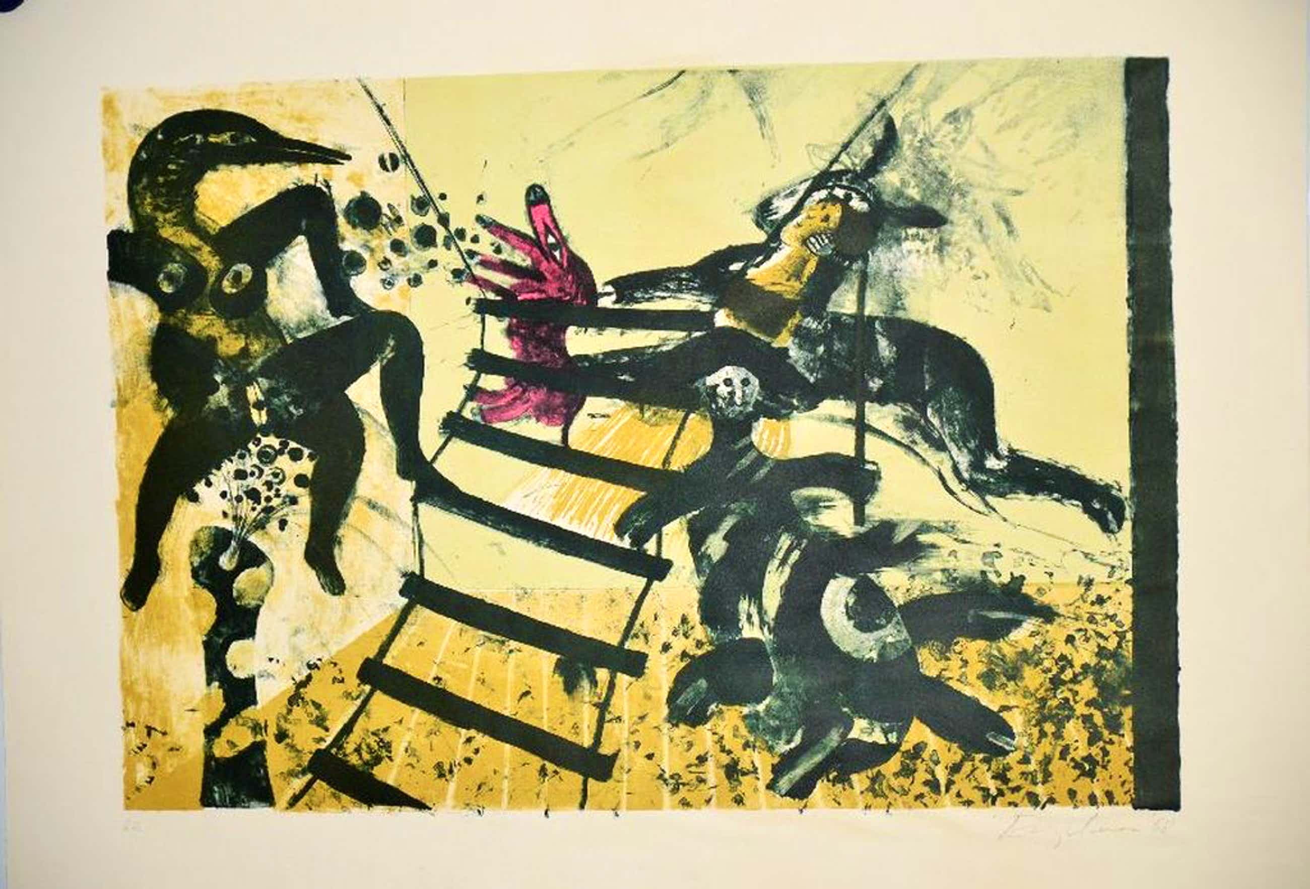 Kleurenlitho Martin Engelman, 1978 kopen? Bied vanaf 60!