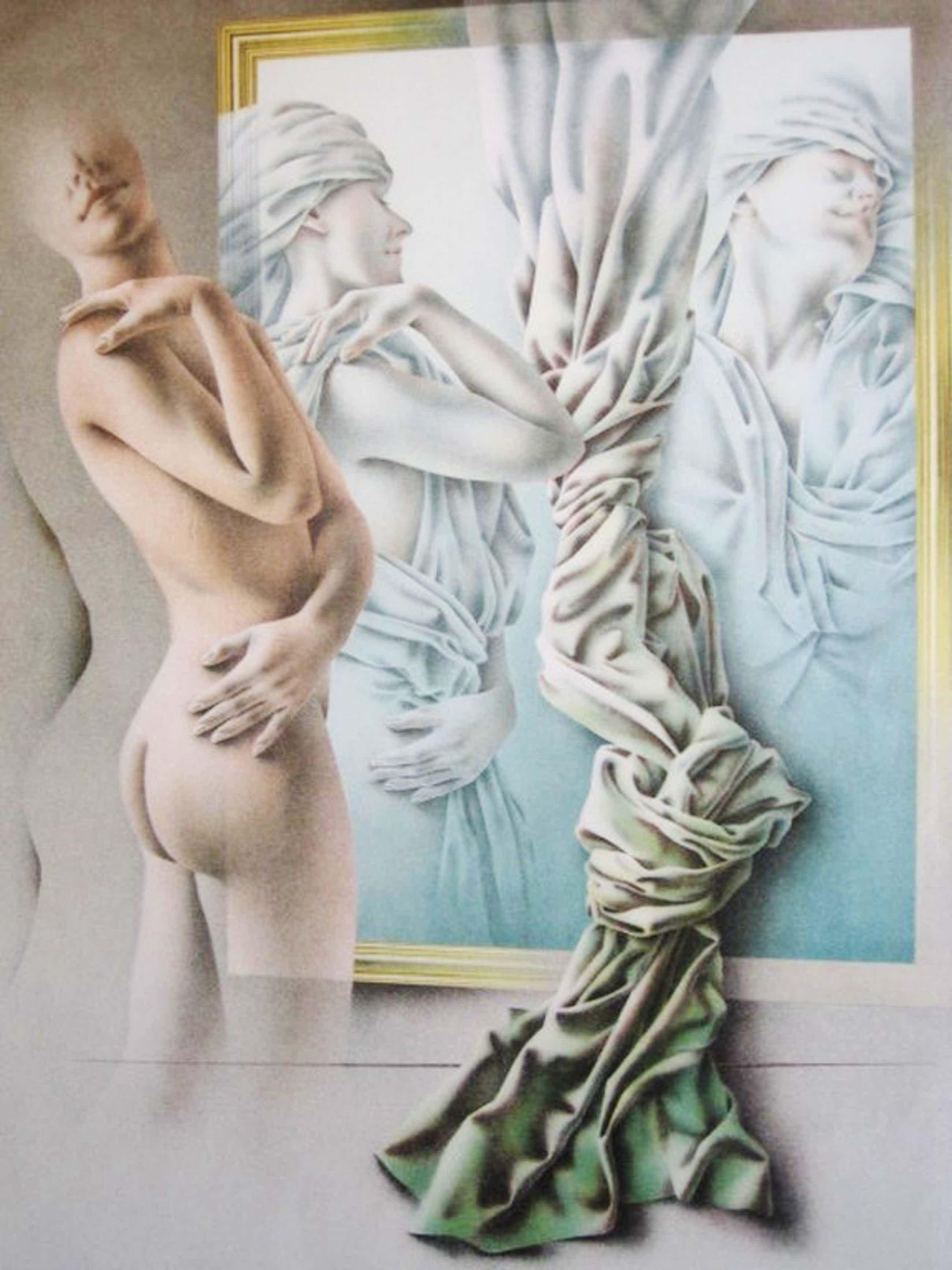 """Groot Realistisch werk van Poen de Wijs (1948-2014) Lithografie """"Song of Songs""""  kopen? Bied vanaf 104!"""