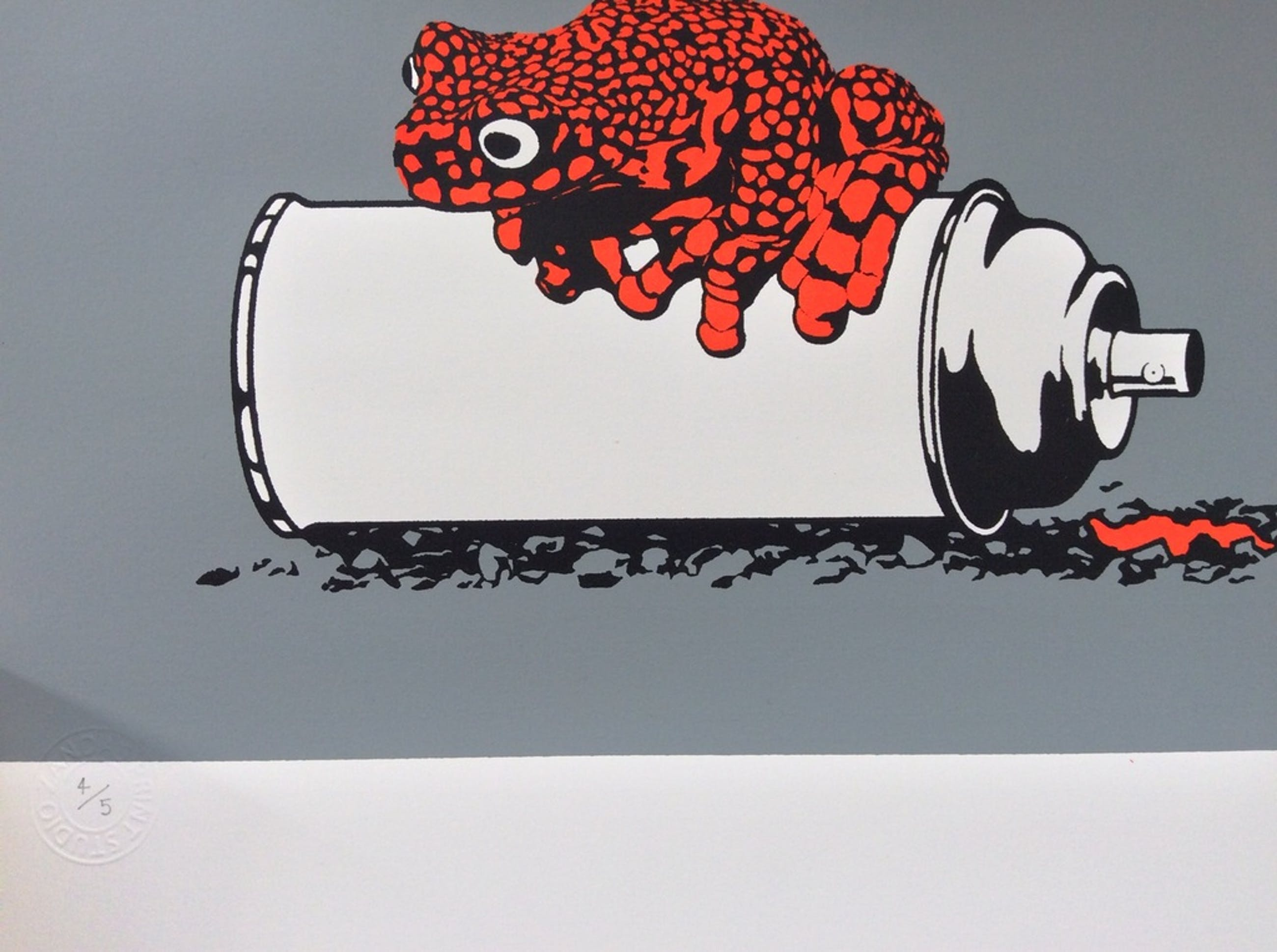 Alex Zanda ' Frog on a spray can (crimson) kopen? Bied vanaf 50!