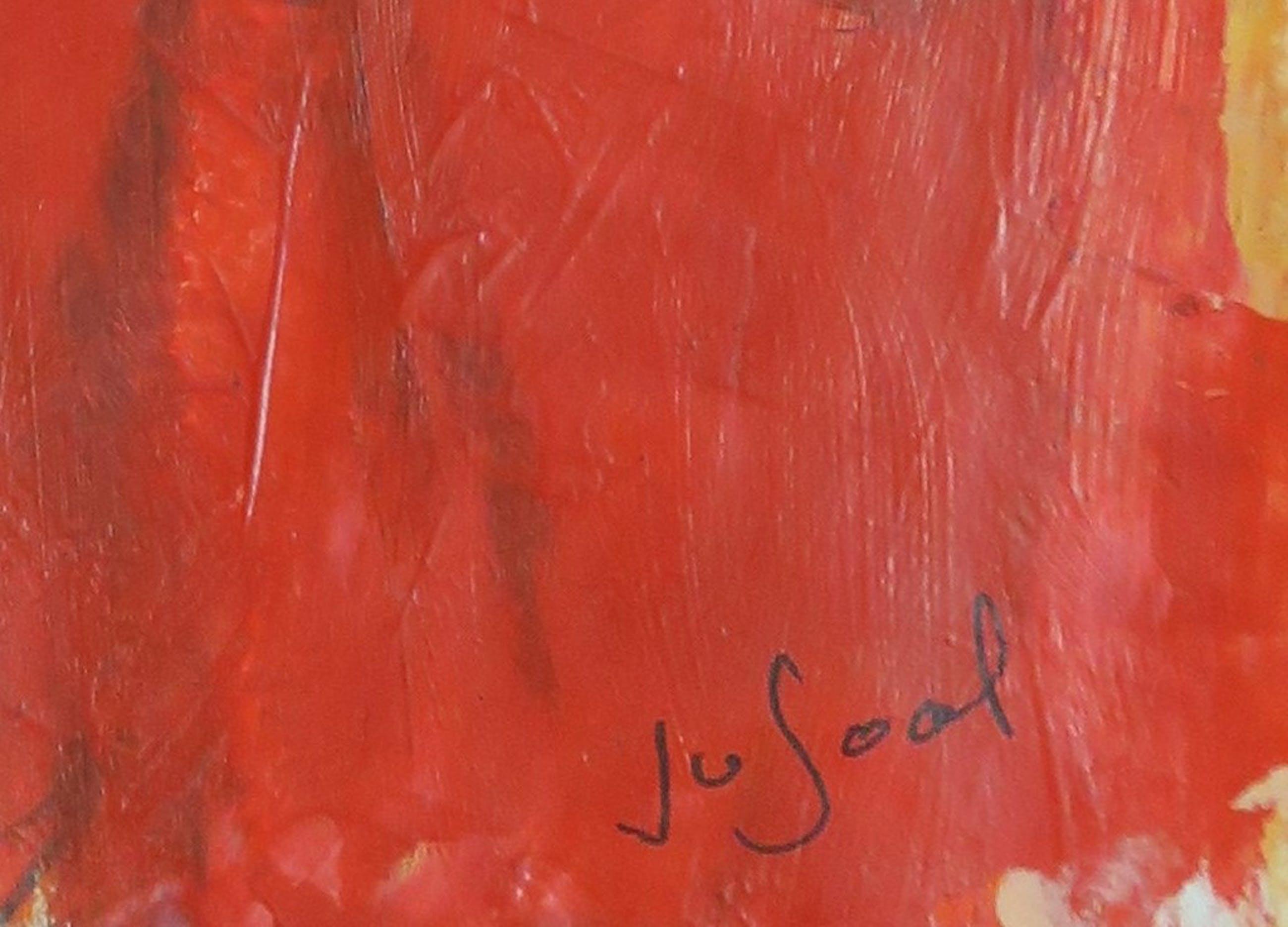 Jose van Gool: Acryl op papier, Drie dames kopen? Bied vanaf 20!