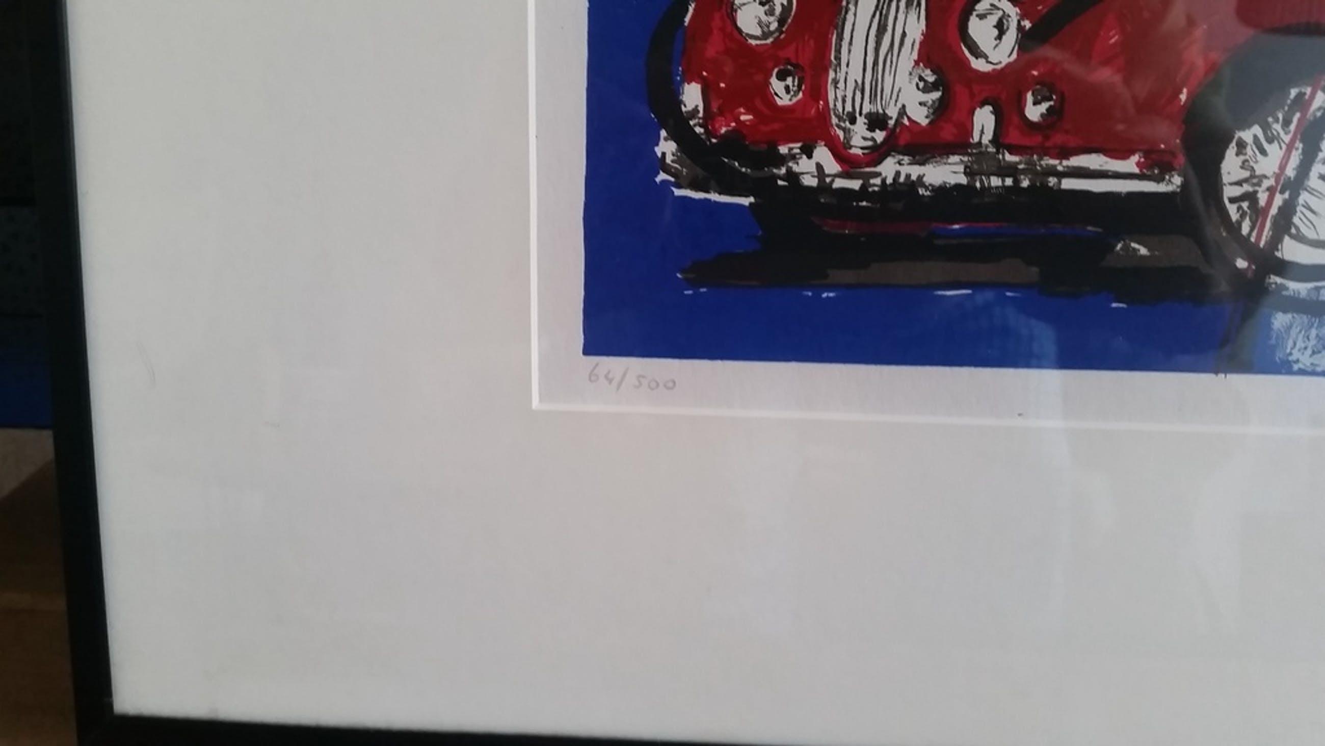 Herman Brood, zeefdruk ingelijst 61 x 51 kopen? Bied vanaf 75!
