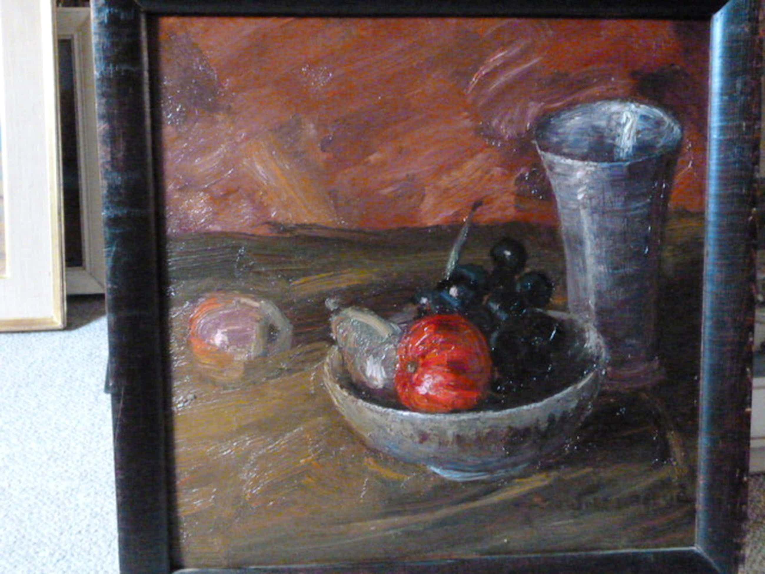 Jos van de Wall Perné - olieverf - Stilleven met fruit kopen? Bied vanaf 95!