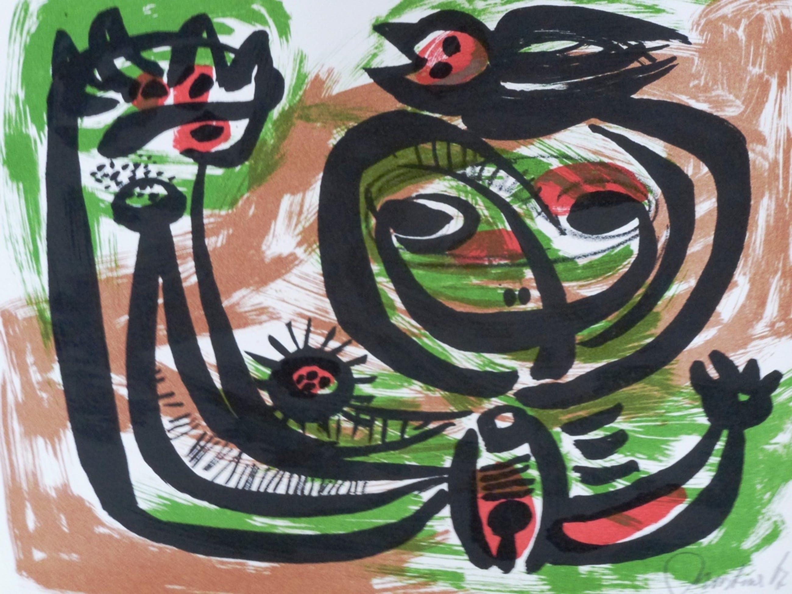 Anton Rooskens, Litho: compositie, 1967, handgesigneerd en genummerd kopen? Bied vanaf 350!