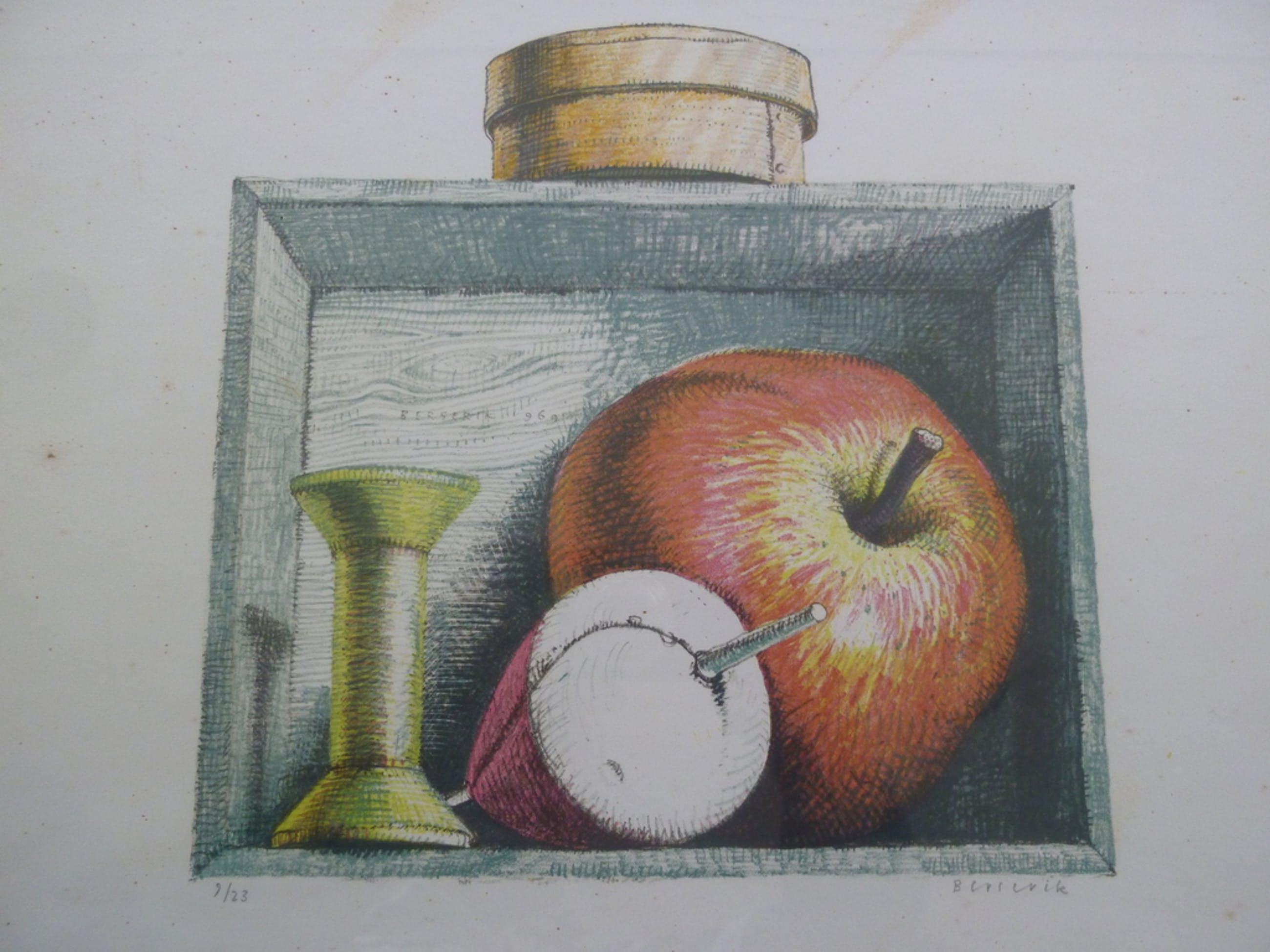 Berserik: Stilleven met Appel, Dobber en Klos kopen? Bied vanaf 10!