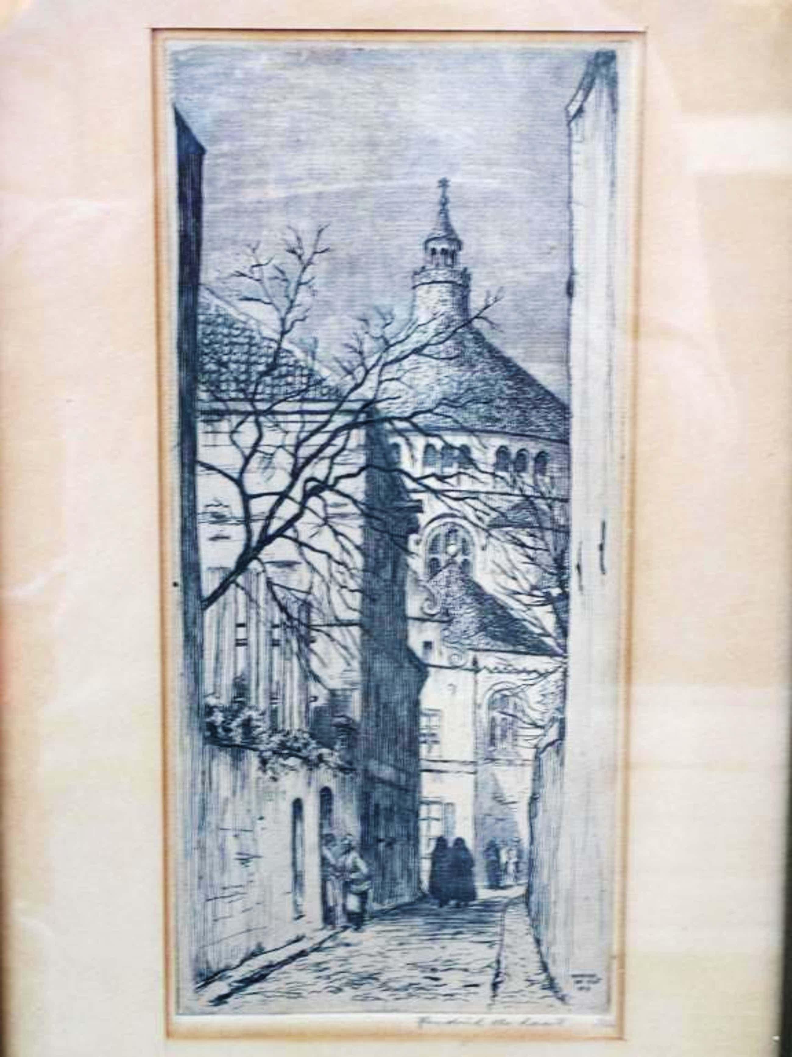Hendrik de Laat, Stadsstraatje Den Bosch, Ets 1931 kopen? Bied vanaf 75!