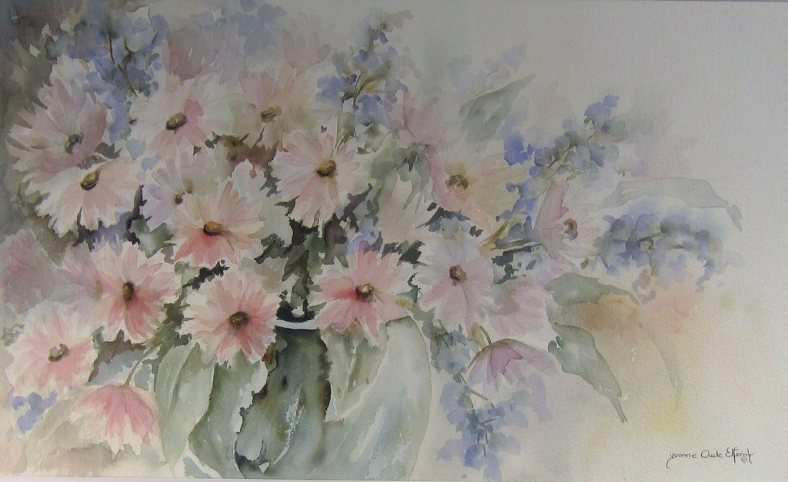Yvonne Oude Elferink - Aquarel bloemstilleven kopen? Bied vanaf 1!