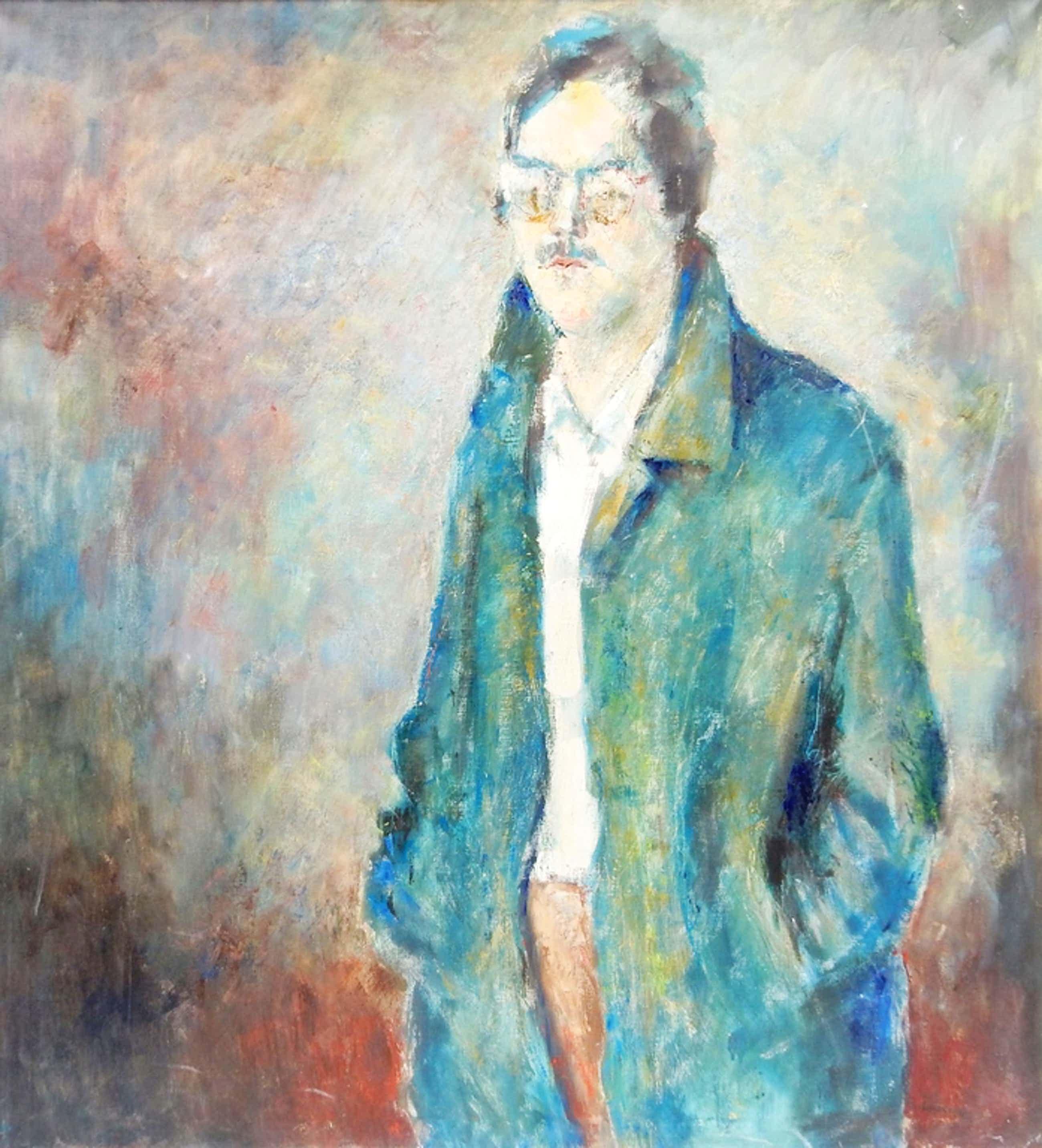 Lucas van der Pol (1935-2014) - Portret - Olie op doek  kopen? Bied vanaf 75!