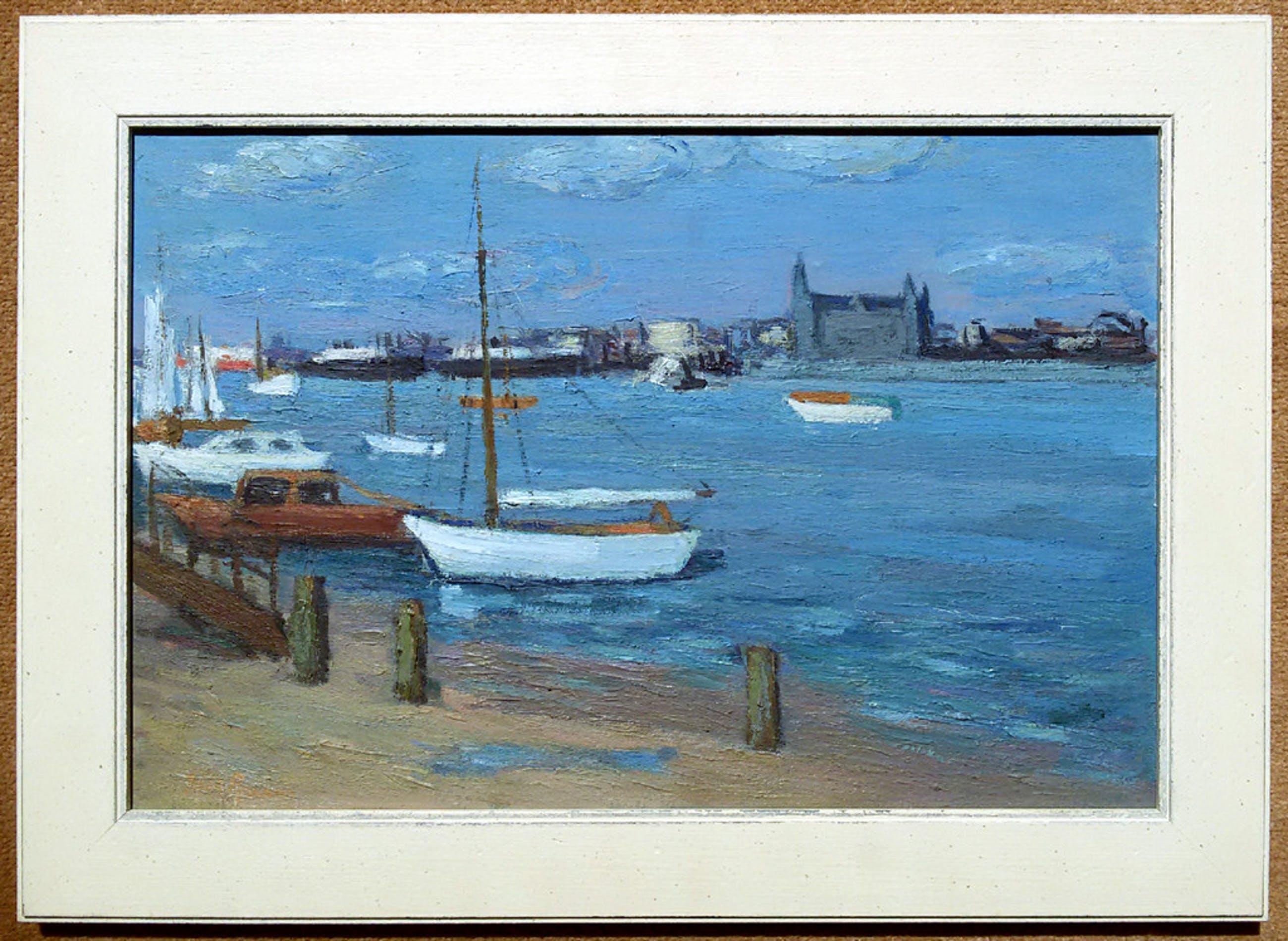 Laatste keer:Dick Braam - Haven bij Antwerpen, olieverf op doek (mooi ingelijst) kopen? Bied vanaf 195!