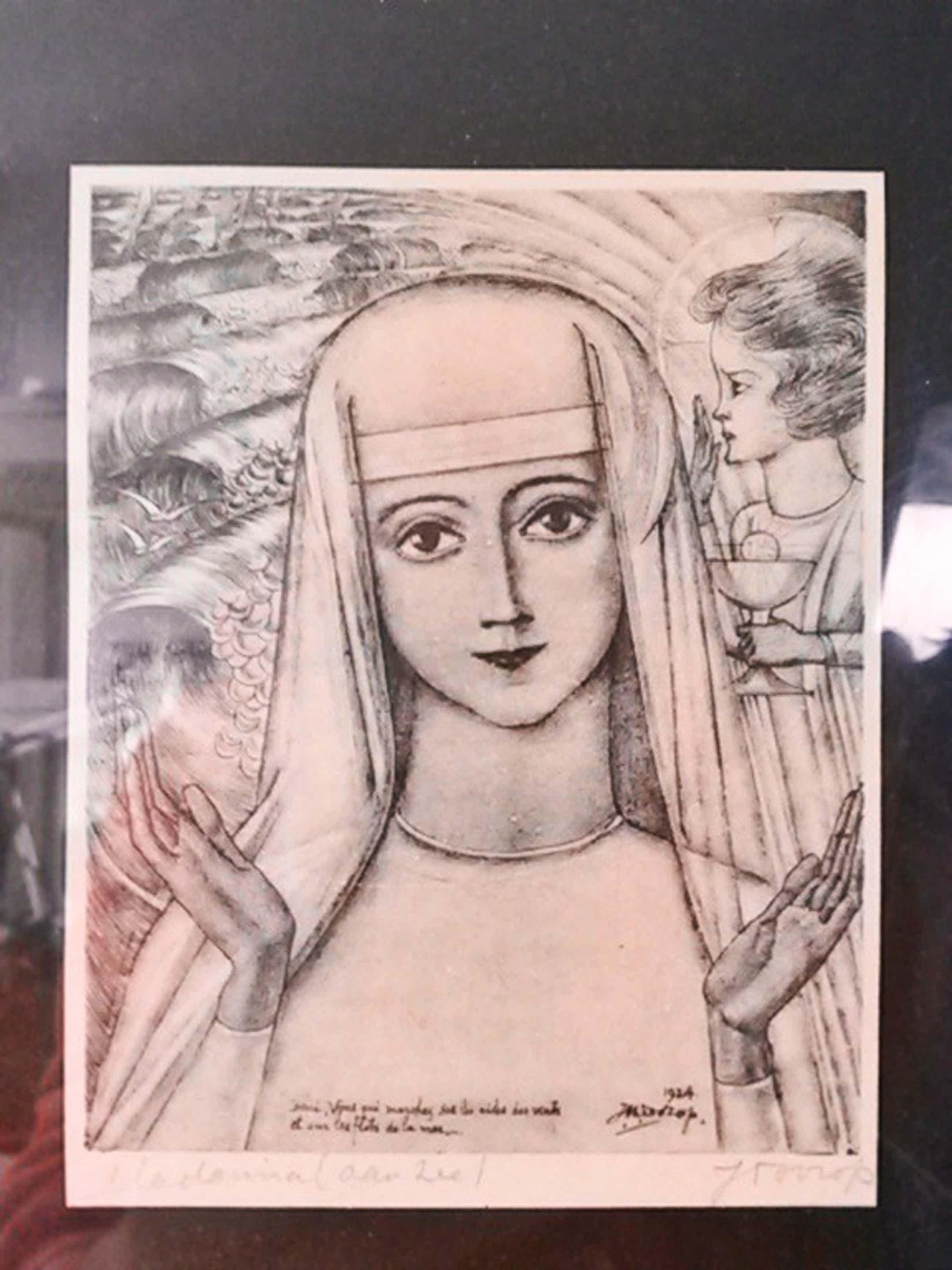 Jan Toorop, Madonna (aan zee), 1924, handgesigneerd kopen? Bied vanaf 80!