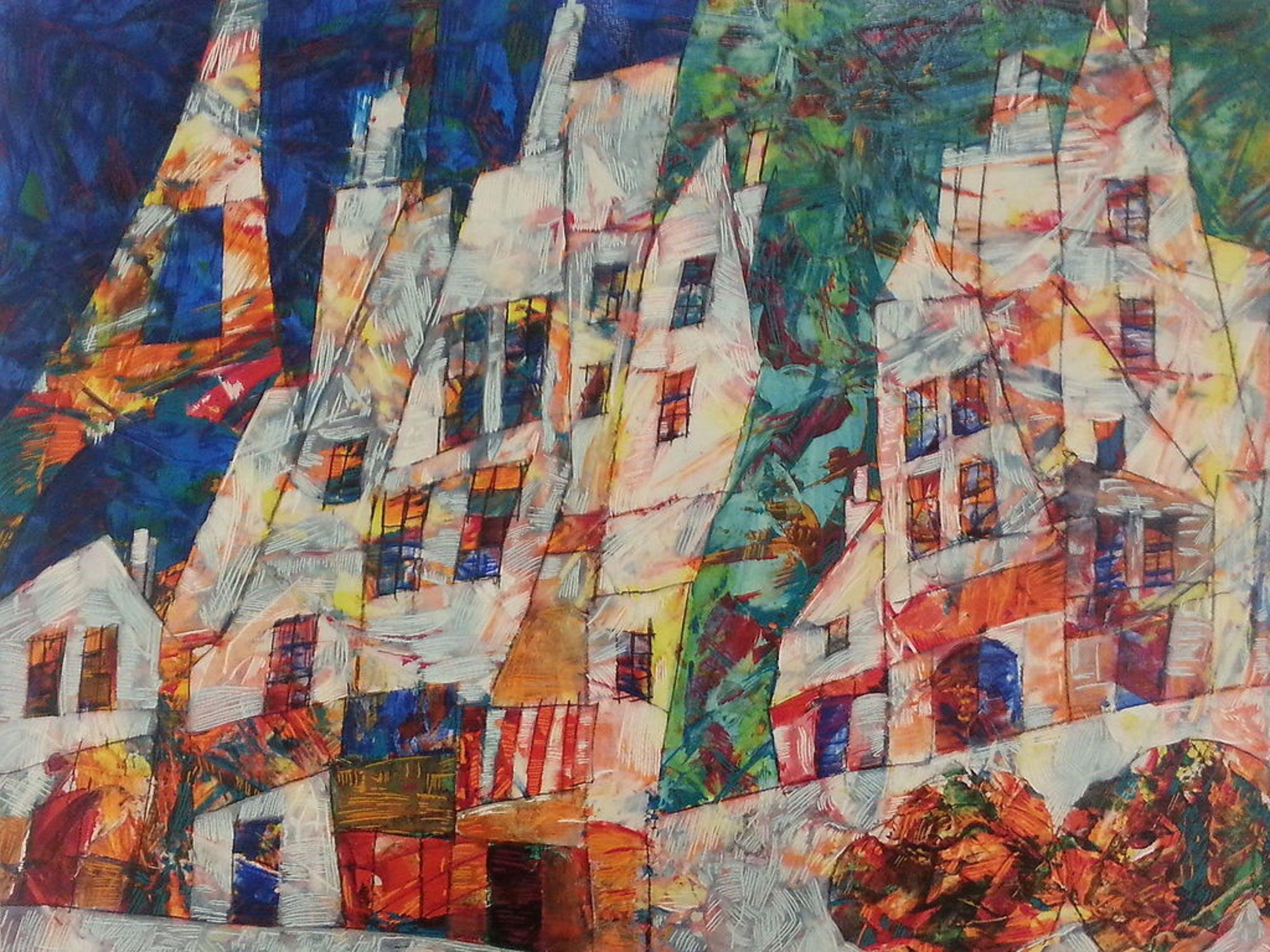 "Harry Guttman, ""Village Park"", seriolithografie, handgesigneerd. kopen? Bied vanaf 125!"