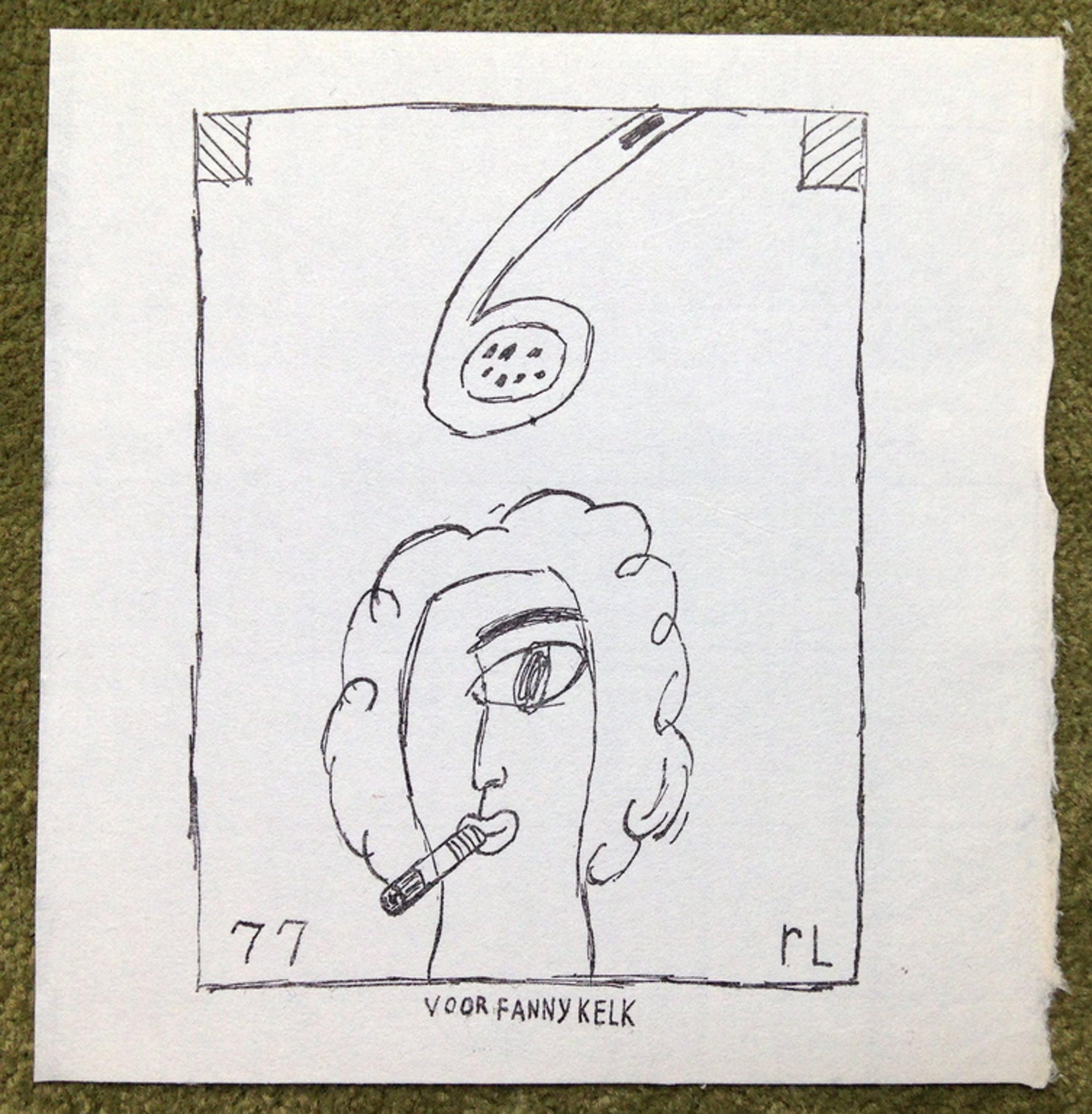 Reinier Lucassen, Zeefdruk uit 1977, 'Fanny Kelk' kopen? Bied vanaf 35!