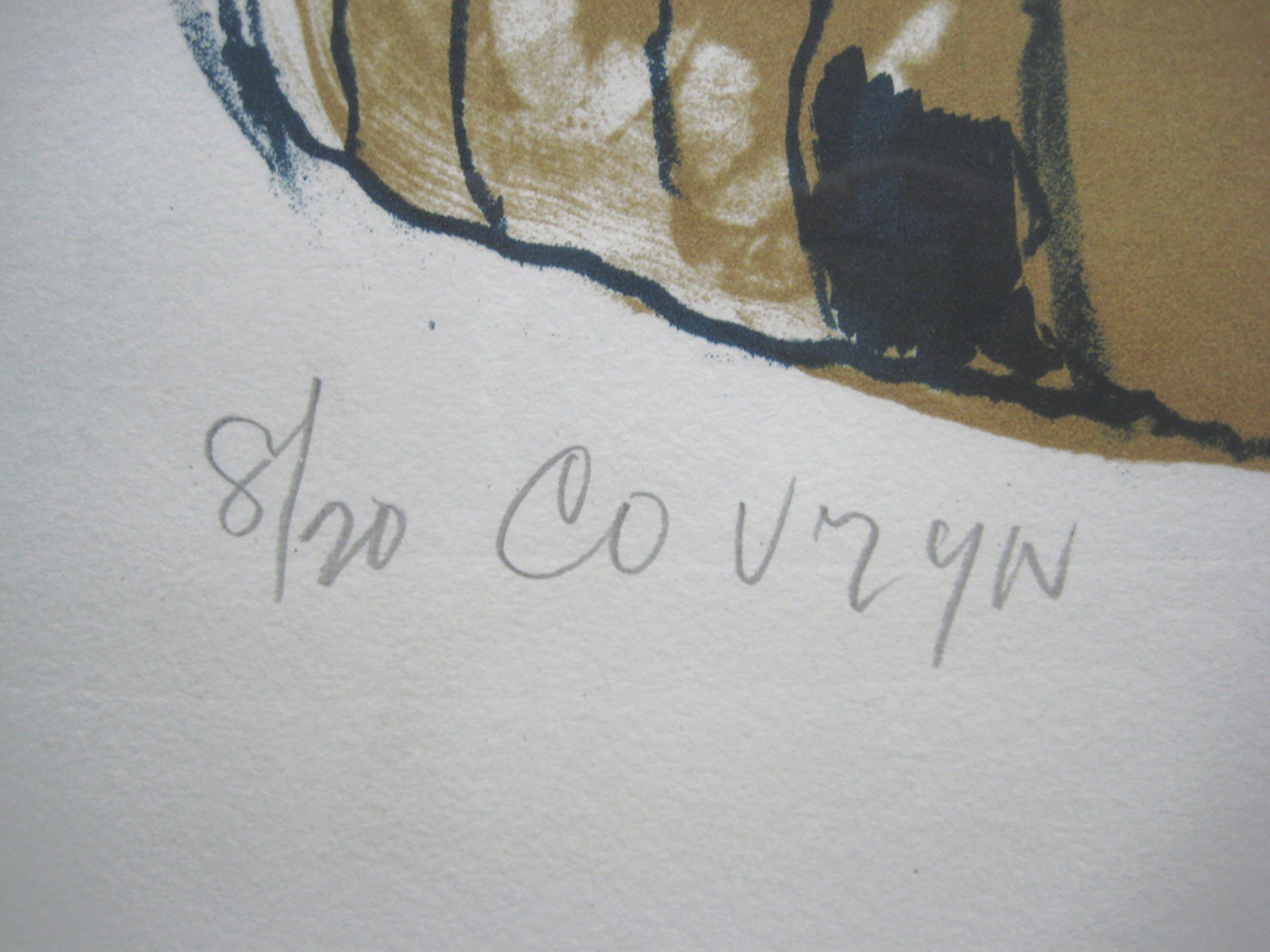 Wessel Couzijn, zeefdruk, zonder titel, ingelijst 56 x 77 cm kopen? Bied vanaf 40!