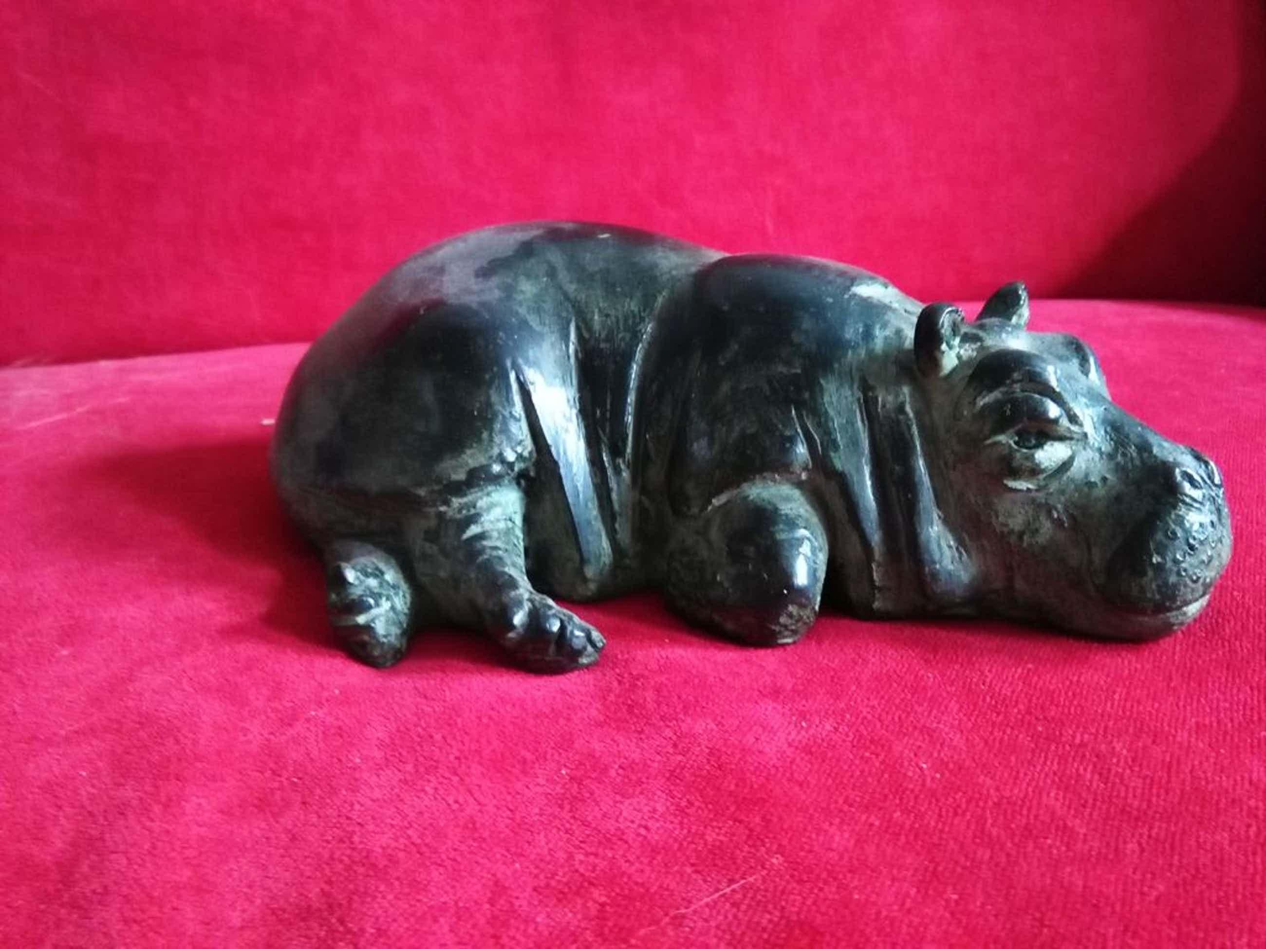 Hetty Heyster: Bronzen beeldje, nijlpaard kopen? Bied vanaf 385!