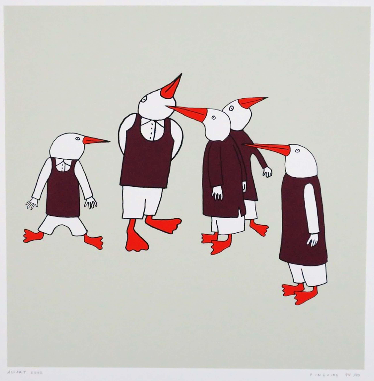 Jeroen Allart: Zeefdruk, Pinguins kopen? Bied vanaf 35!