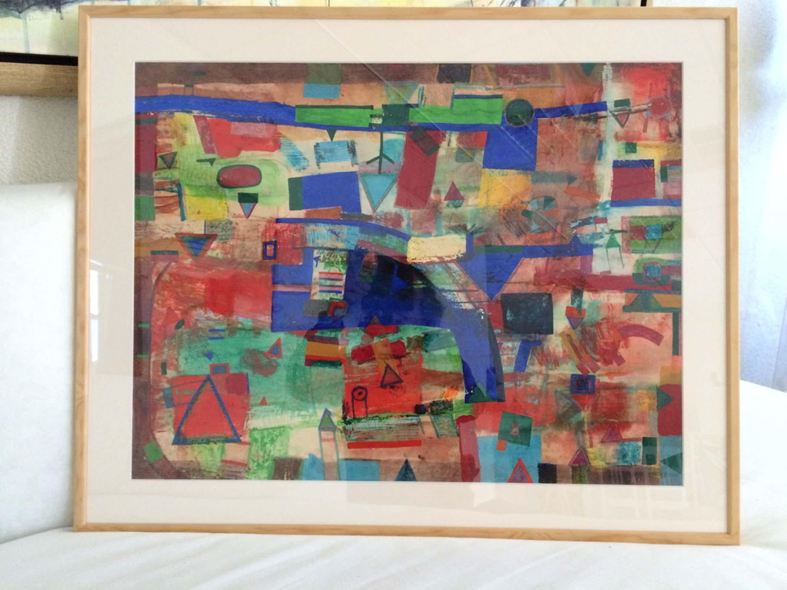 Anna (Ank) Mes- Acryl schilderij afkomstig uit ambassade in Rome kopen? Bied vanaf 129!