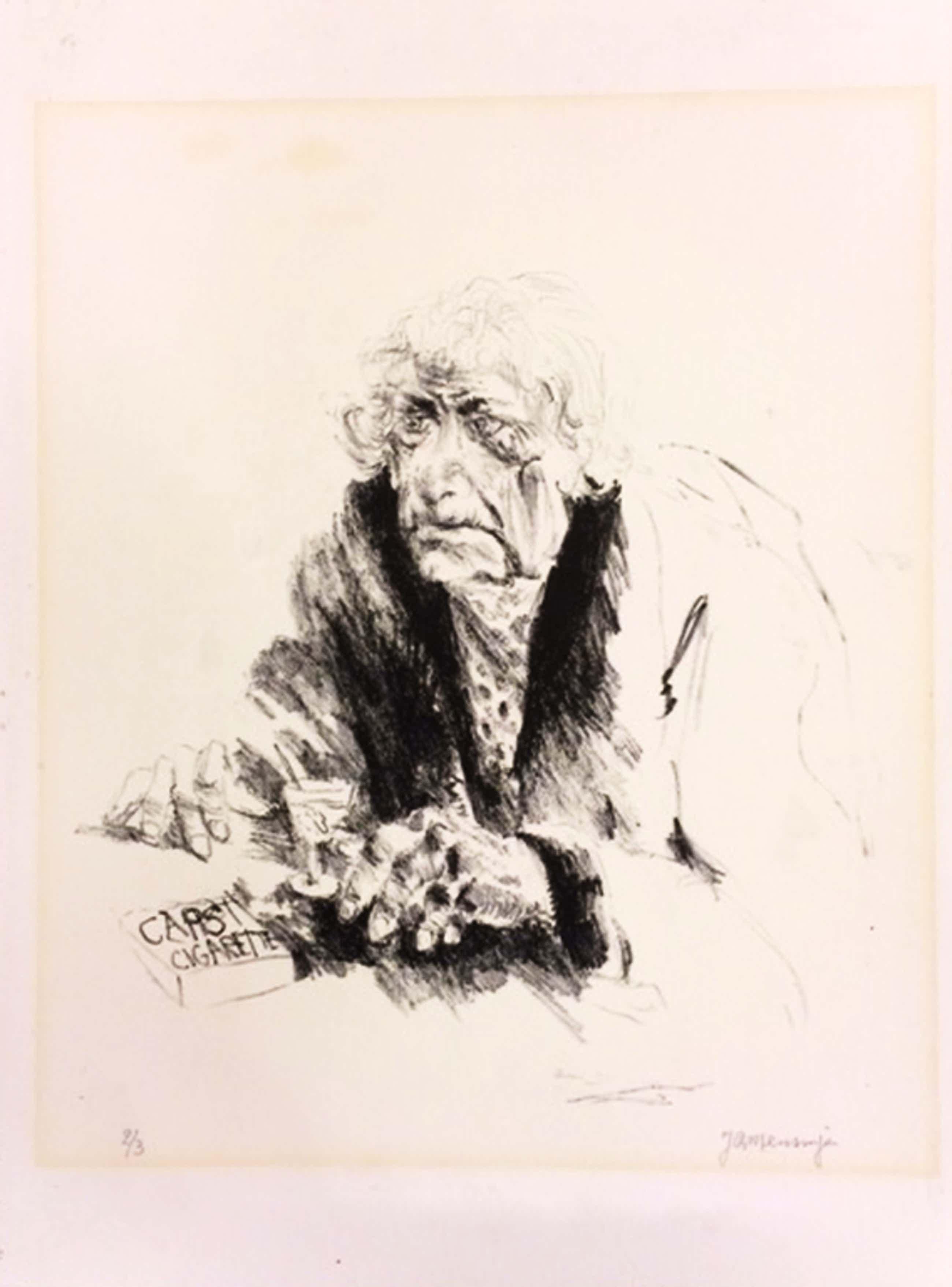 Jan Mensinga, titel Mimi II, litho oplage 2/3, formaat 39 x 28,5 cm (papiermaat)   kopen? Bied vanaf 45!
