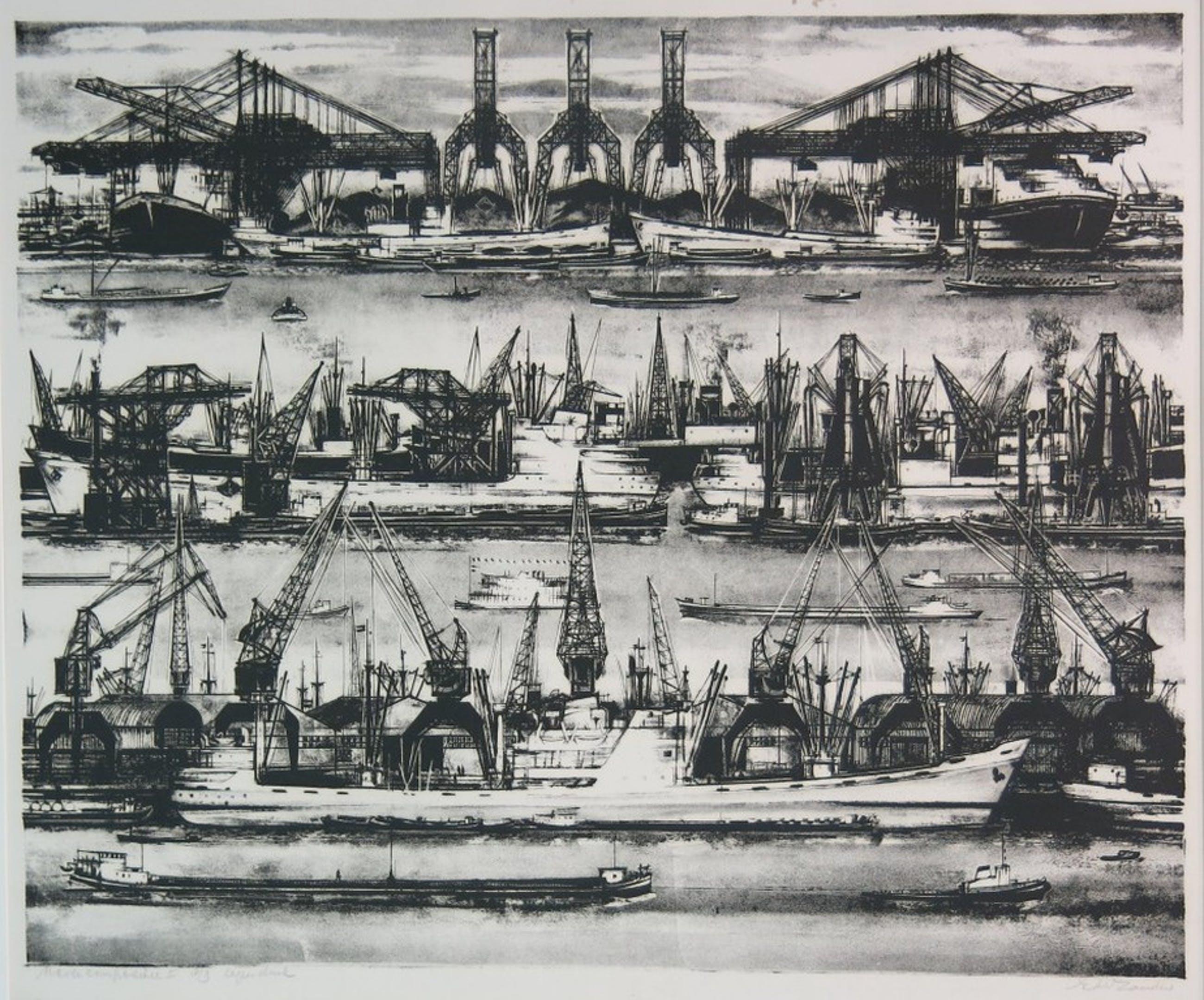 Ed van Zanden: Litho, Havencompositie II kopen? Bied vanaf 1!