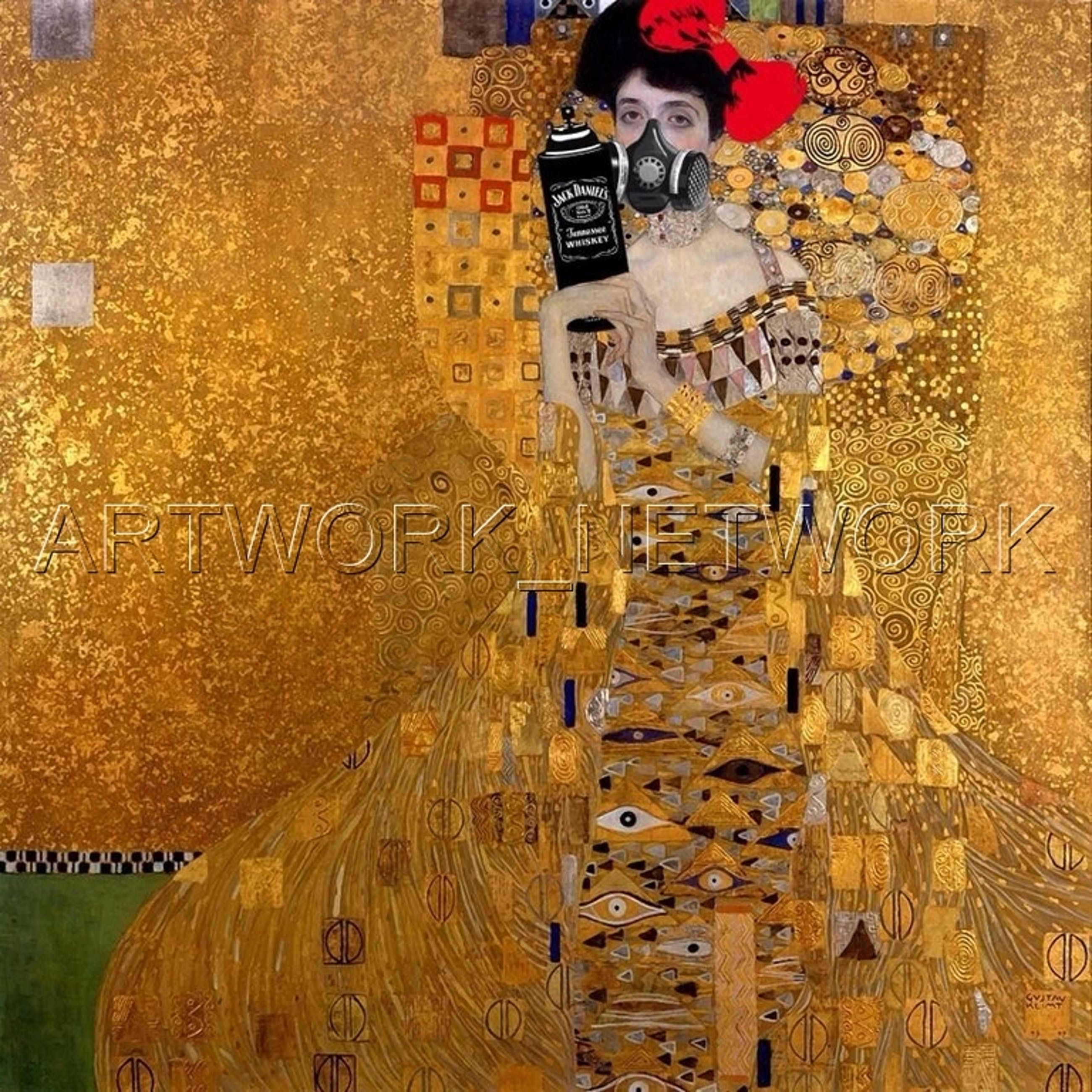 """Large Print Painting """"Gold Drunk"""" Signed Numbered A/P or 1 to 100 with COA kopen? Bied vanaf 1!"""
