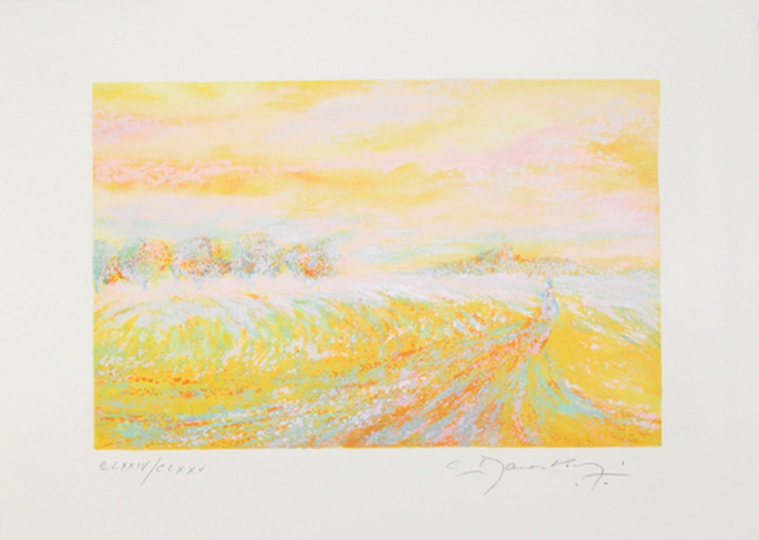 Claude Manoukian - Impression jaume -kleurlitho op Bütten handgesigneerd kopen? Bied vanaf 1!