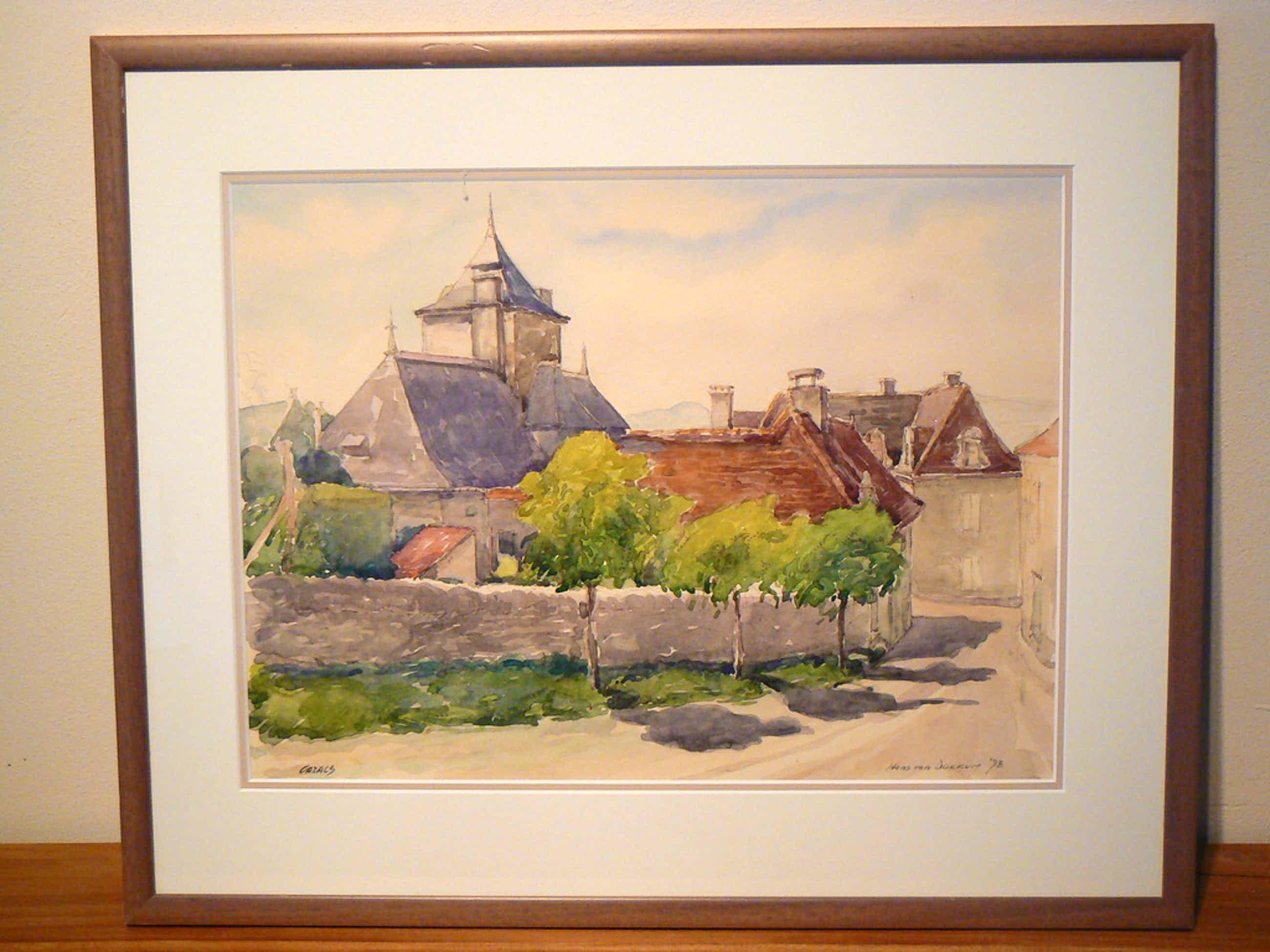 Hans van Dokkum (1908-1995) --  aquarel kopen? Bied vanaf 45!