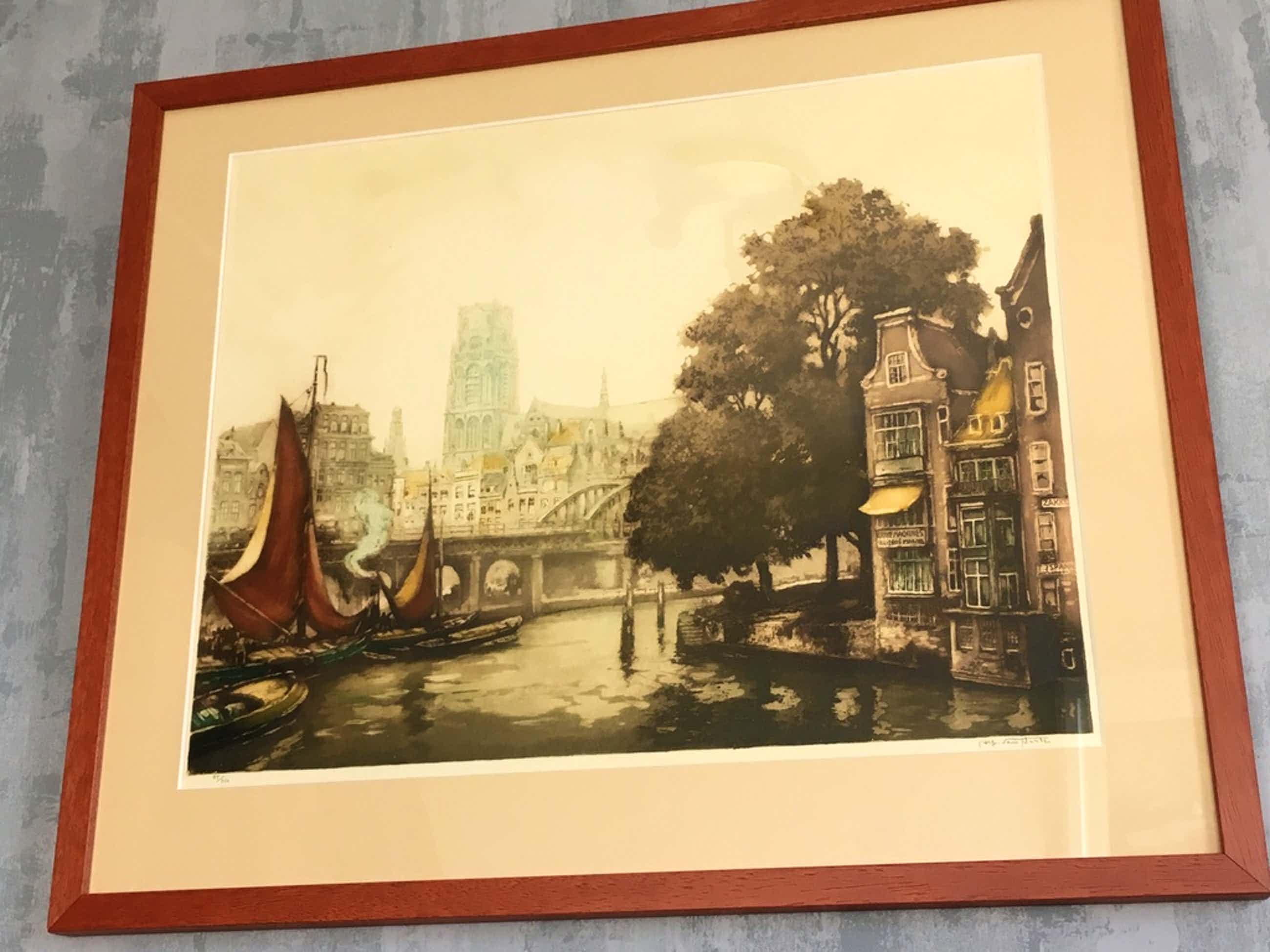 Alfred van Neste: Kleurets, Kolk Rotterdam voor 1940. kopen? Bied vanaf 50!