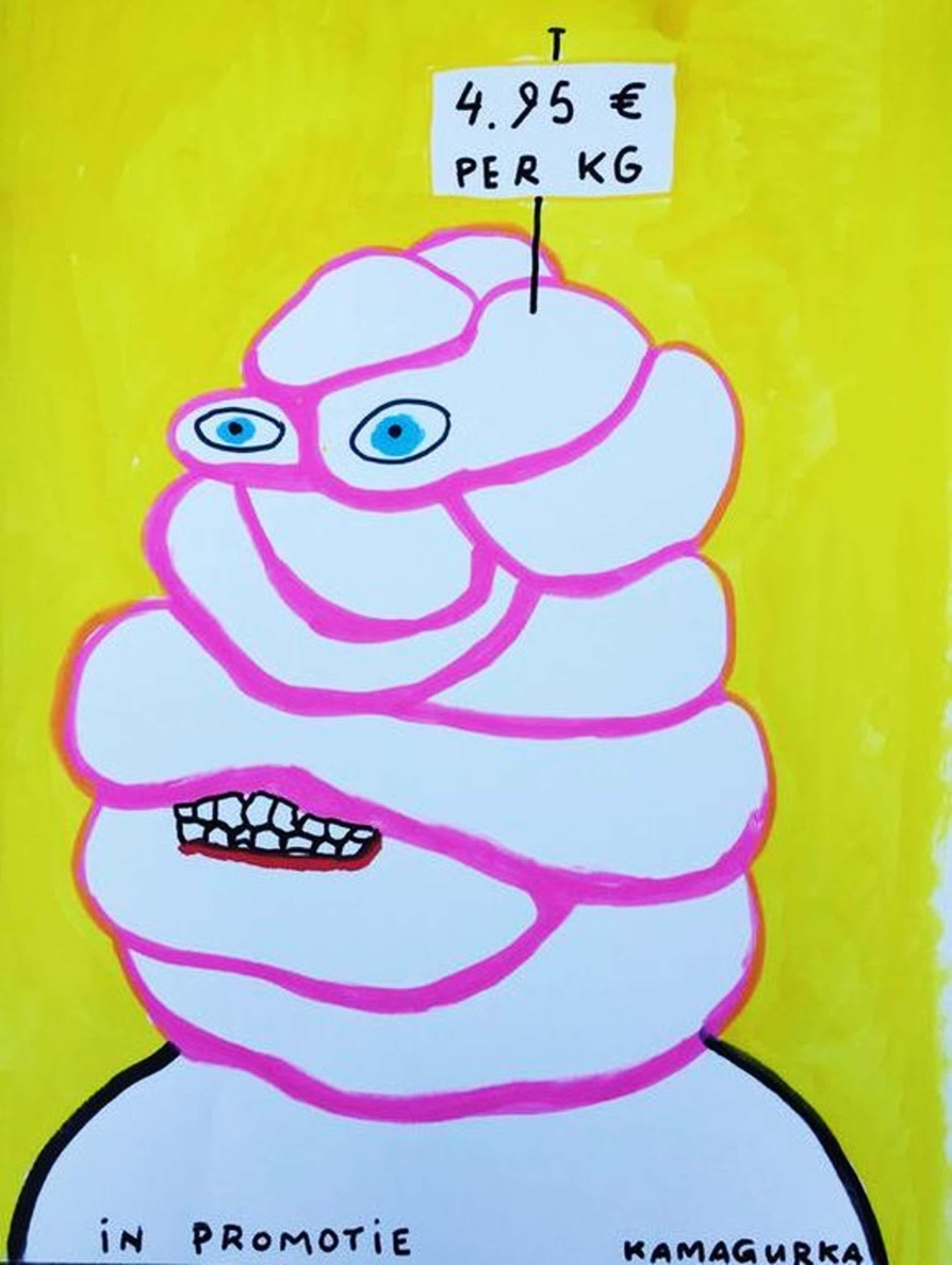 KAMAGURKA originele grote tekening, gesigneerd kopen? Bied vanaf 350!