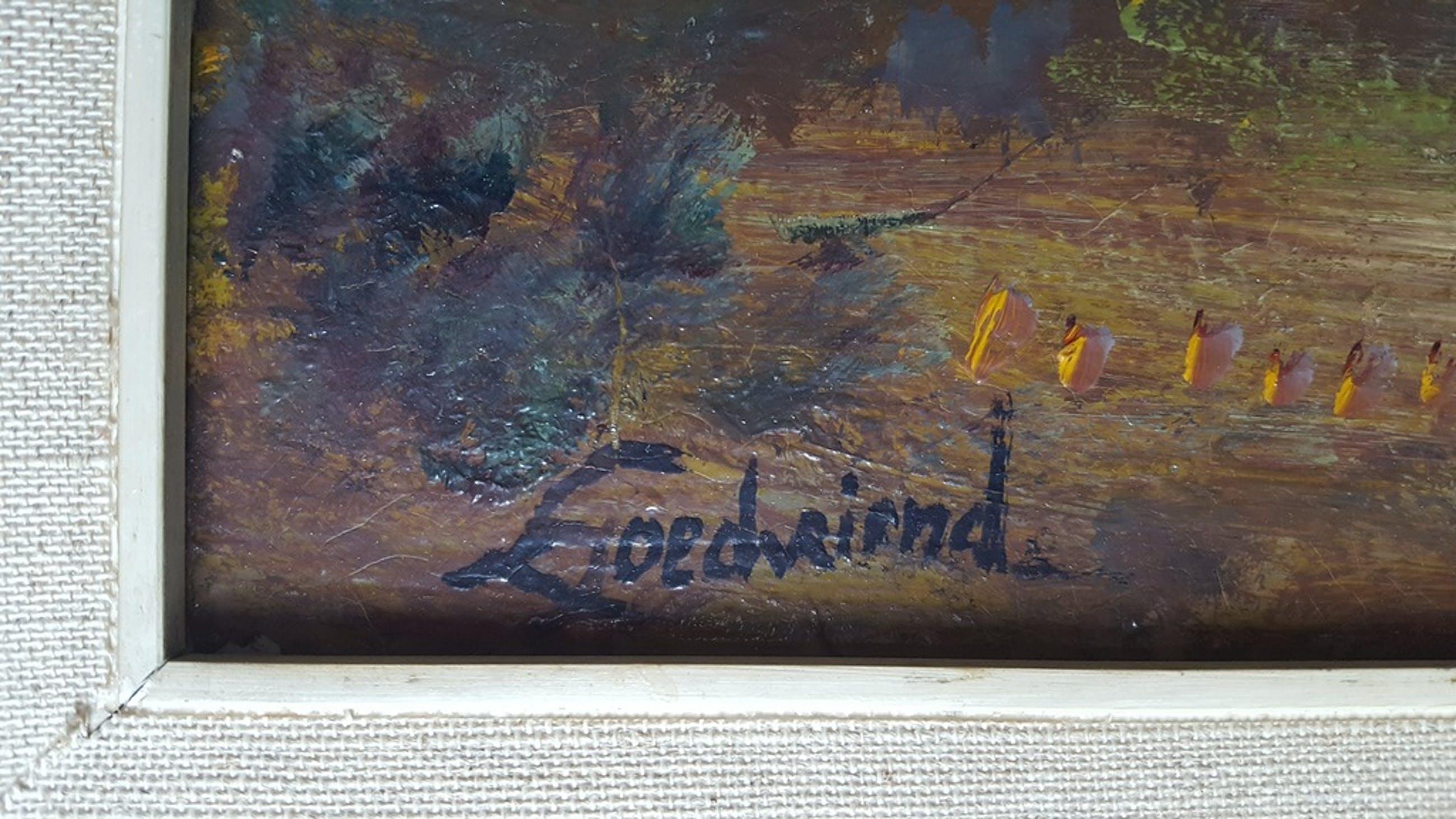 Theo Goedvriend (1879-1969) - Bergaanzicht - paneel, gesigneerd kopen? Bied vanaf 1!