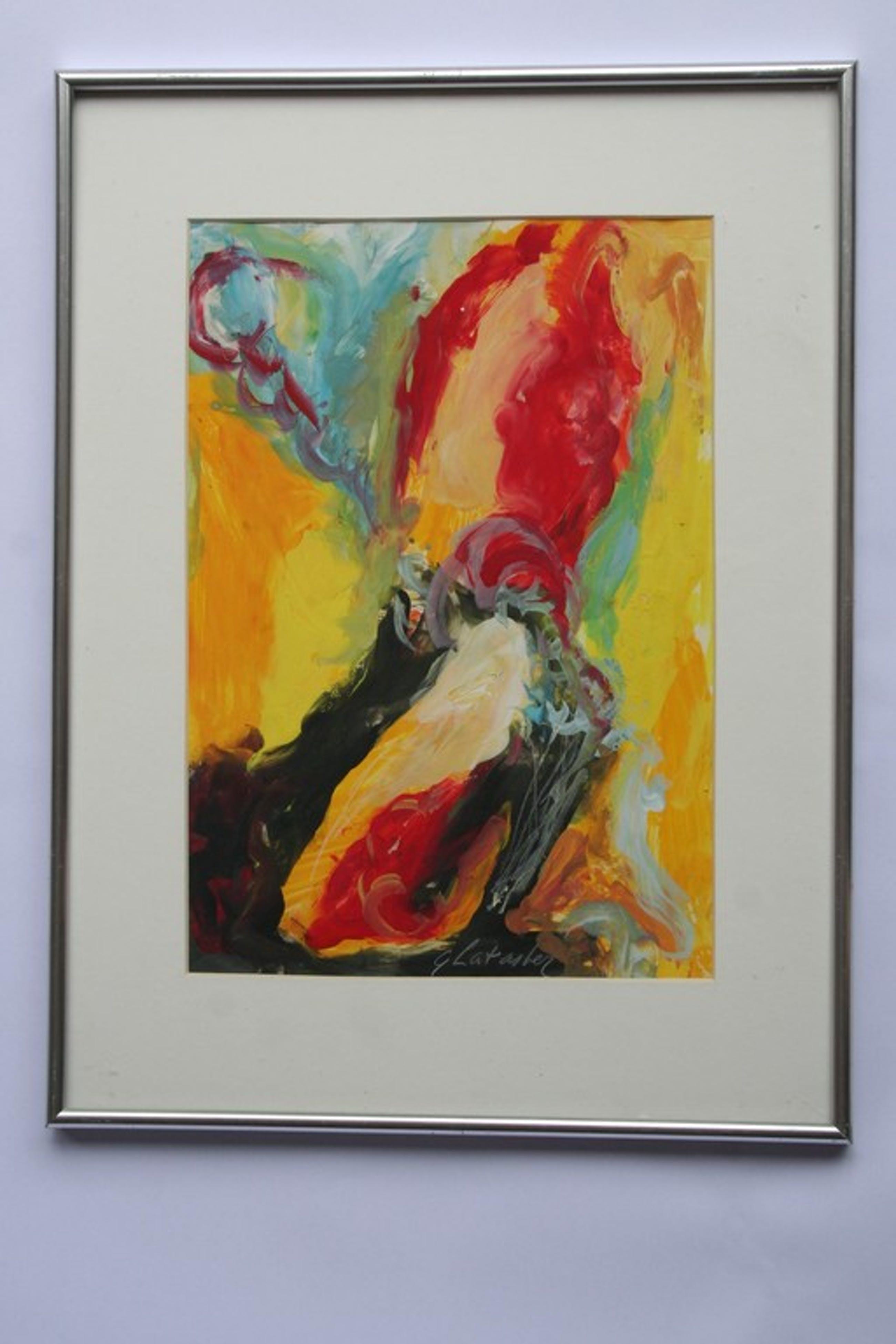 Gouache, abstract, gesigneerd kopen? Bied vanaf 1!