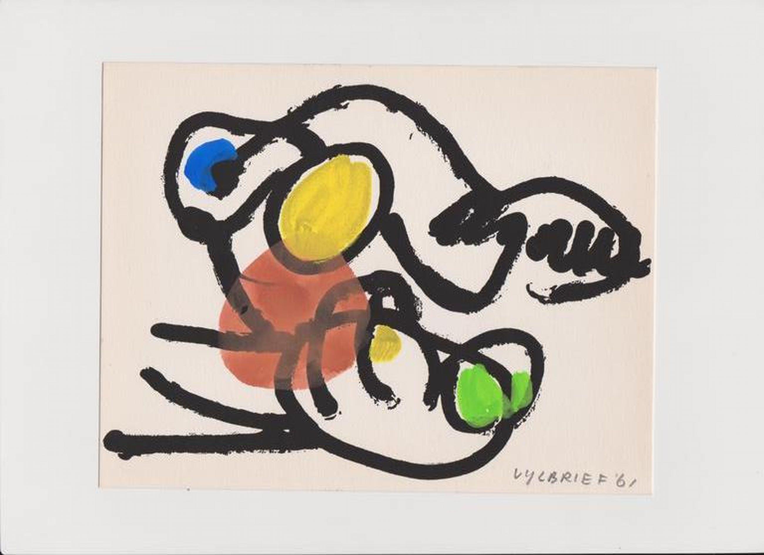 Ernst Vijlbrief, penseel tekening in Cobra stijl kopen? Bied vanaf 25!