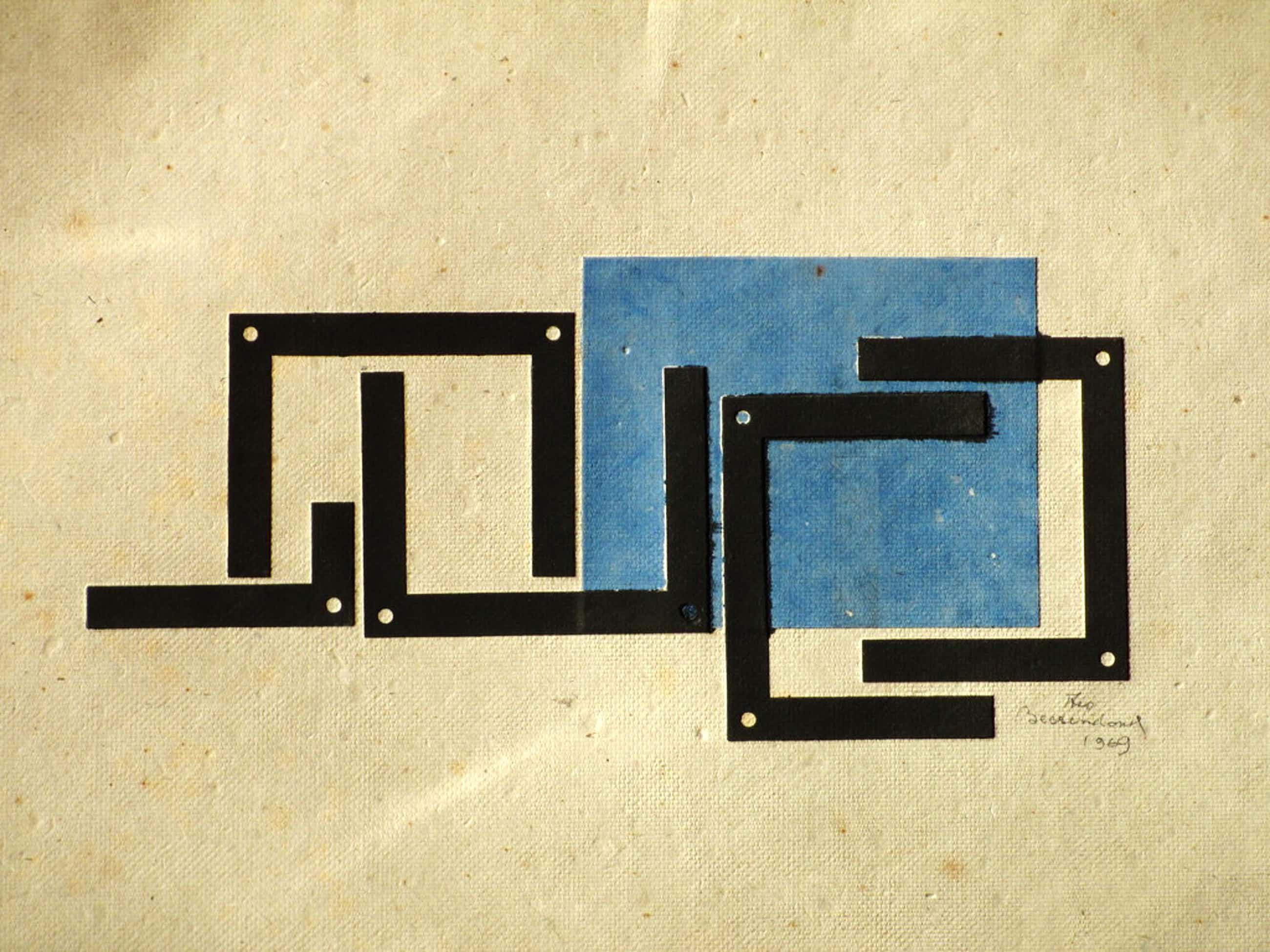 Theo Beerendonk, Kubistische Compositie, Kleurendiepdruk kopen? Bied vanaf 75!