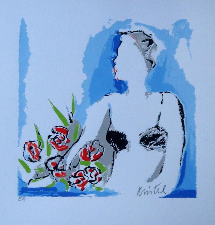 SYLVIA KRISTEL, handgesigneerde zeefdruk 'Woman' kopen? Bied vanaf 1!