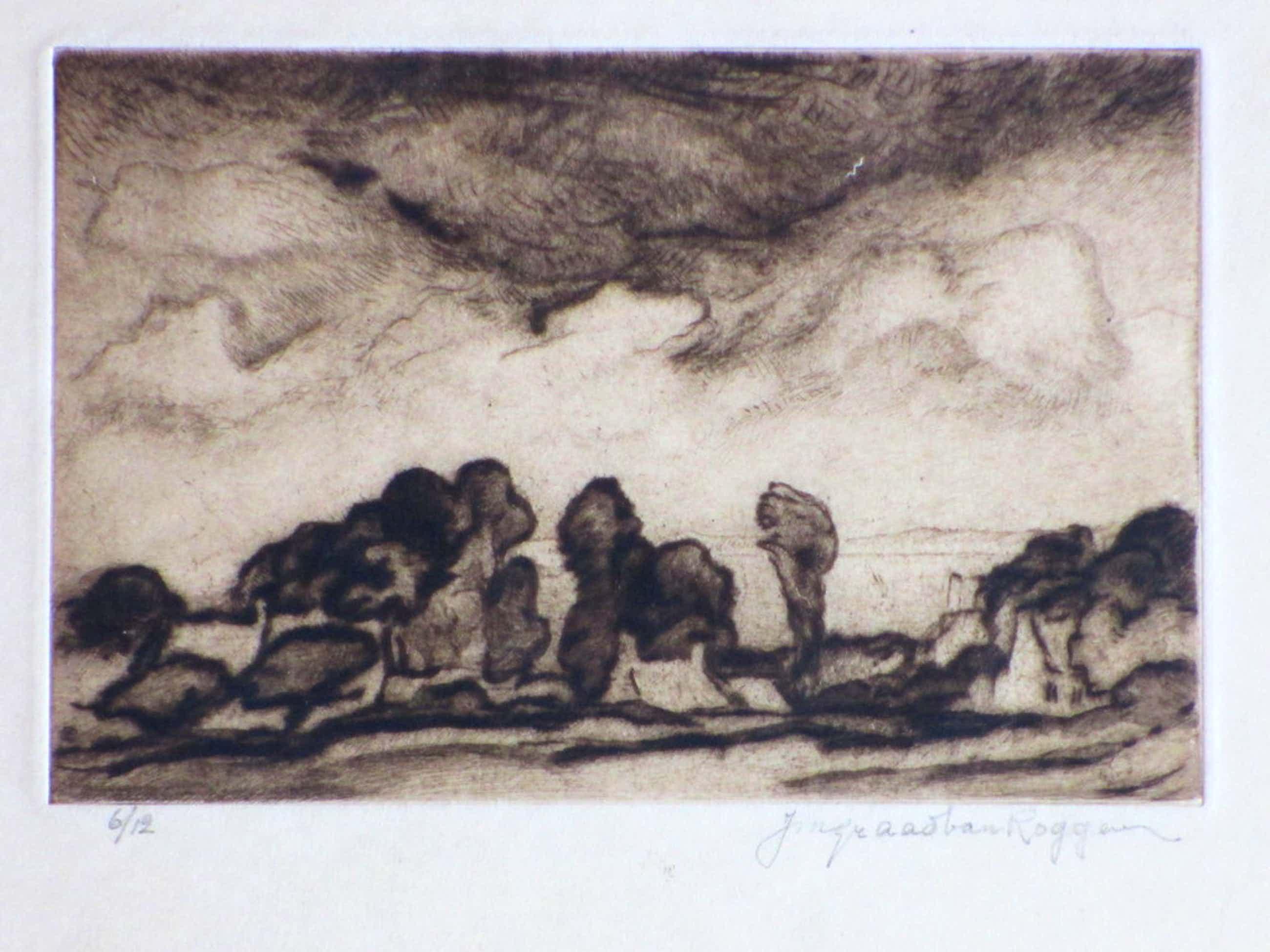Johannes Graadt van Roggen, Bretons landschap, Droge naald ets kopen? Bied vanaf 50!