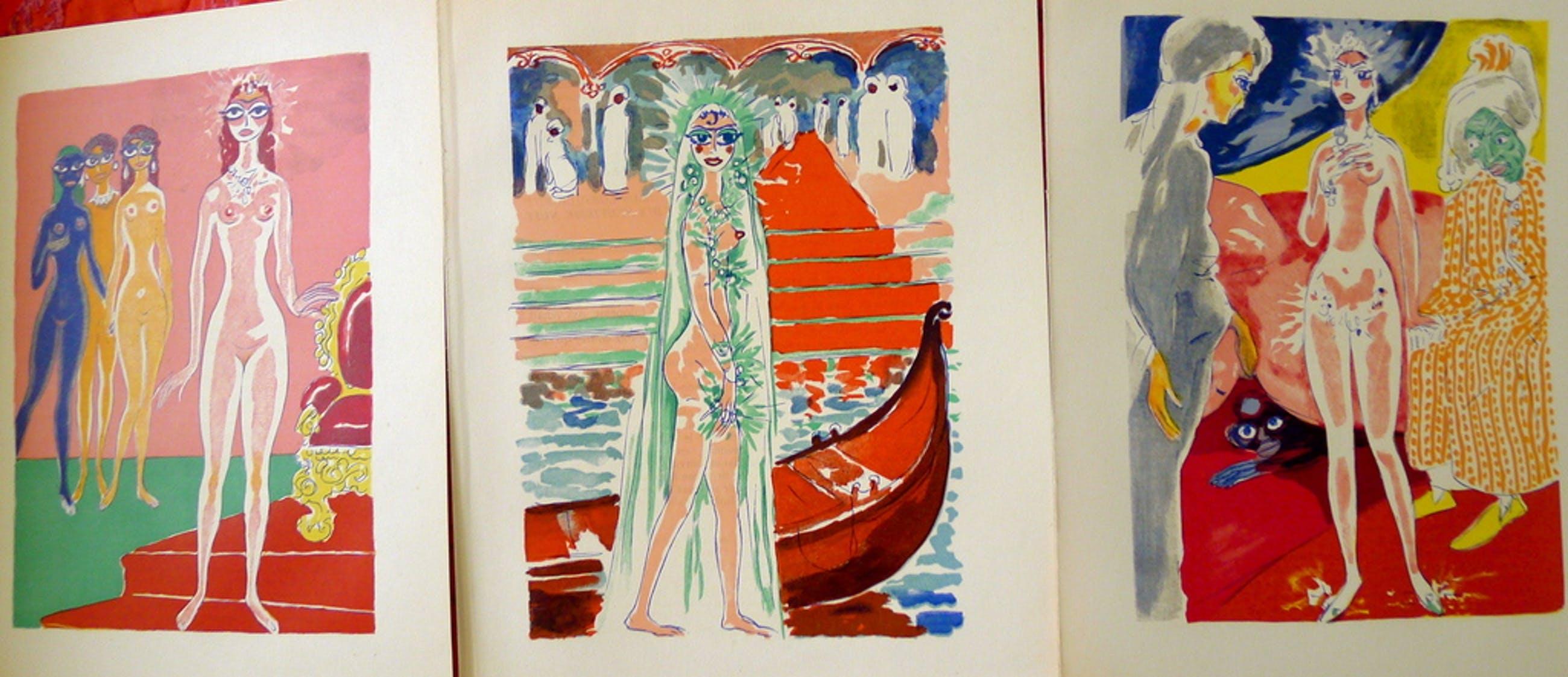 Kees van Dongen,drie houtgravures uit deel drie van 1001 Nacht,1955 kopen? Bied vanaf 45!