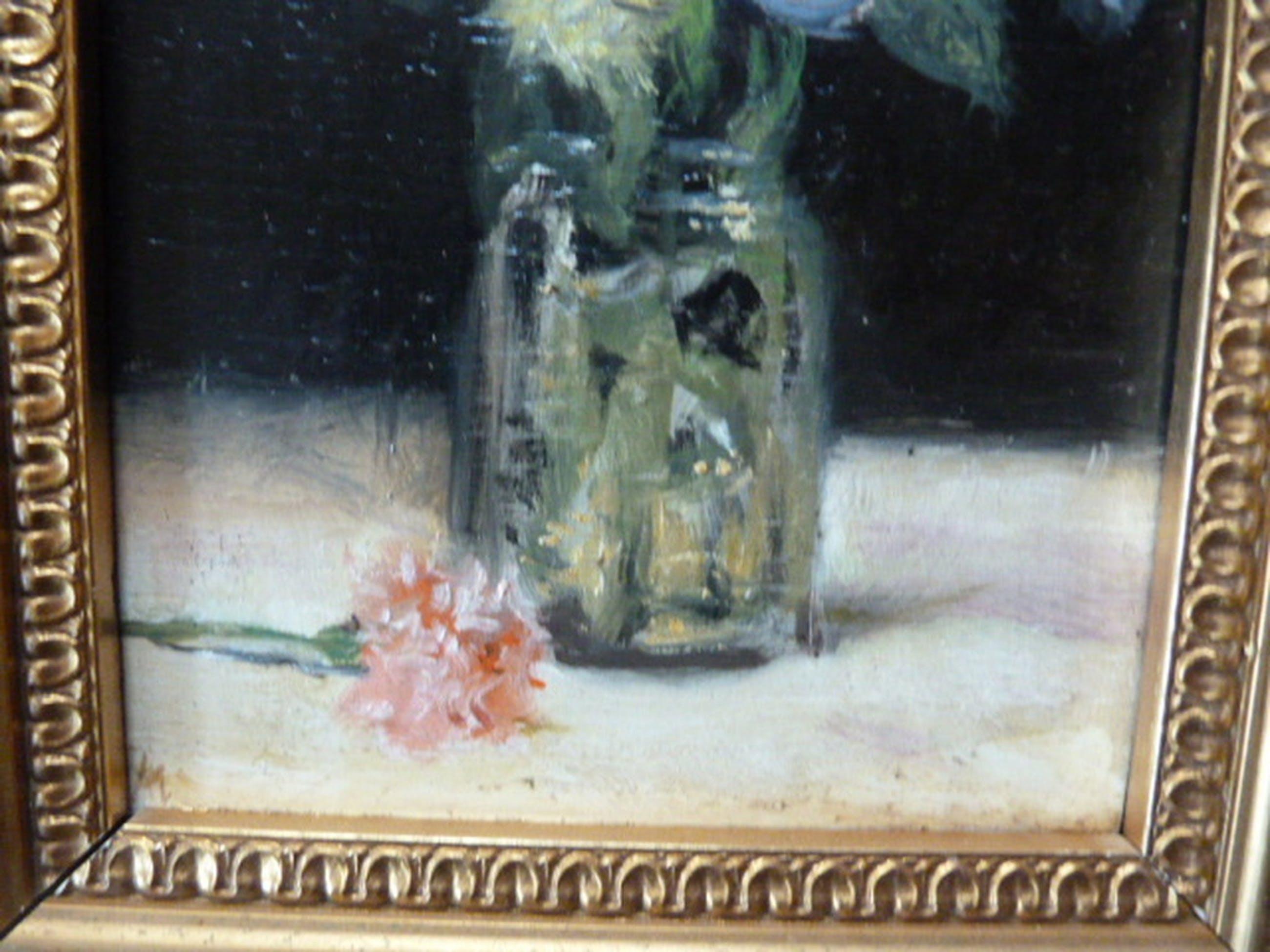 Onbekend ( 20e eeuw ) - olieverf  -  Rozen in een vaas. kopen? Bied vanaf 65!