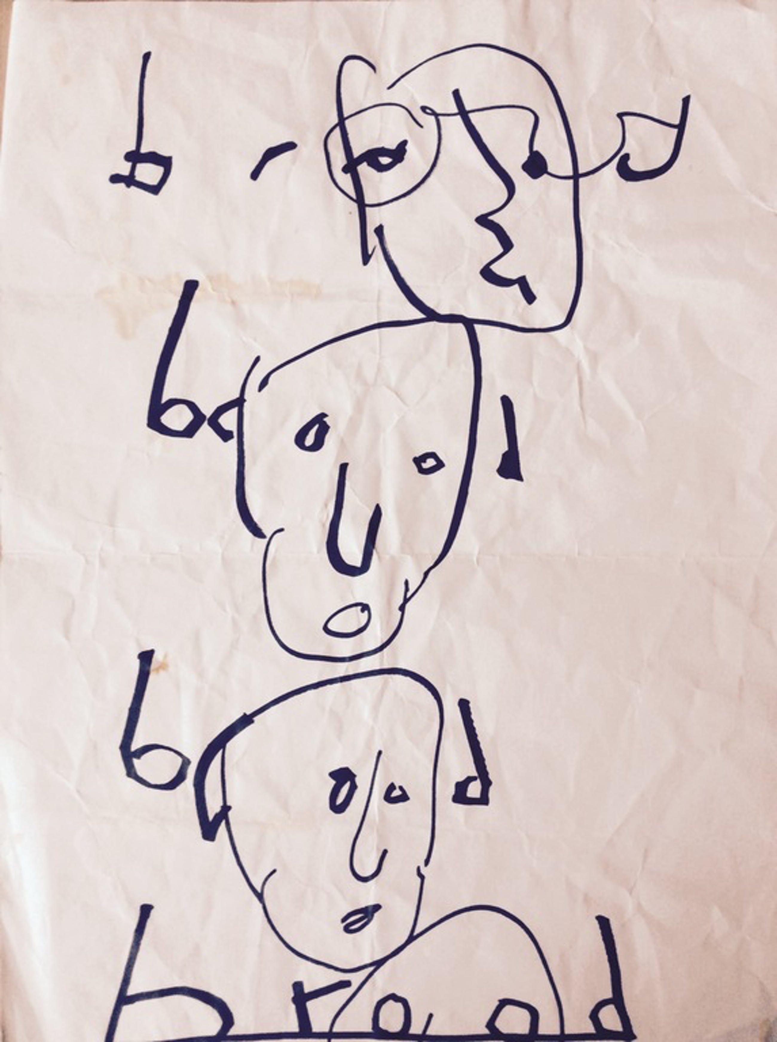 Herman Brood - Originele tekening - 4x Brood kopen? Bied vanaf 75!