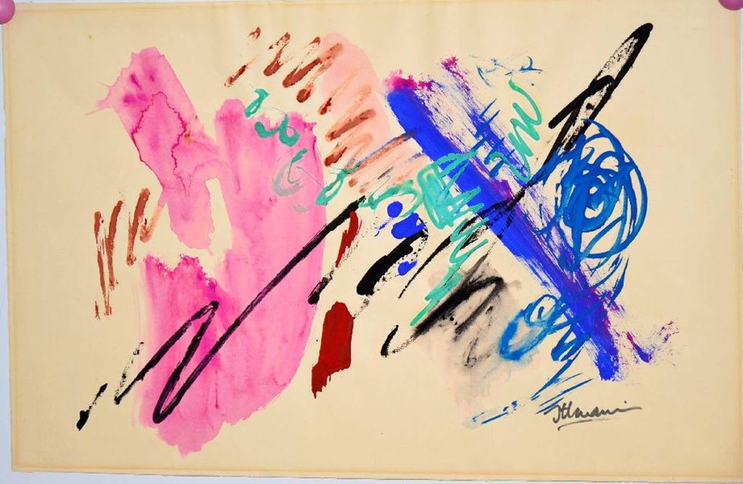 Hans Ittman: Gouache, Abstract kopen? Bied vanaf 75!