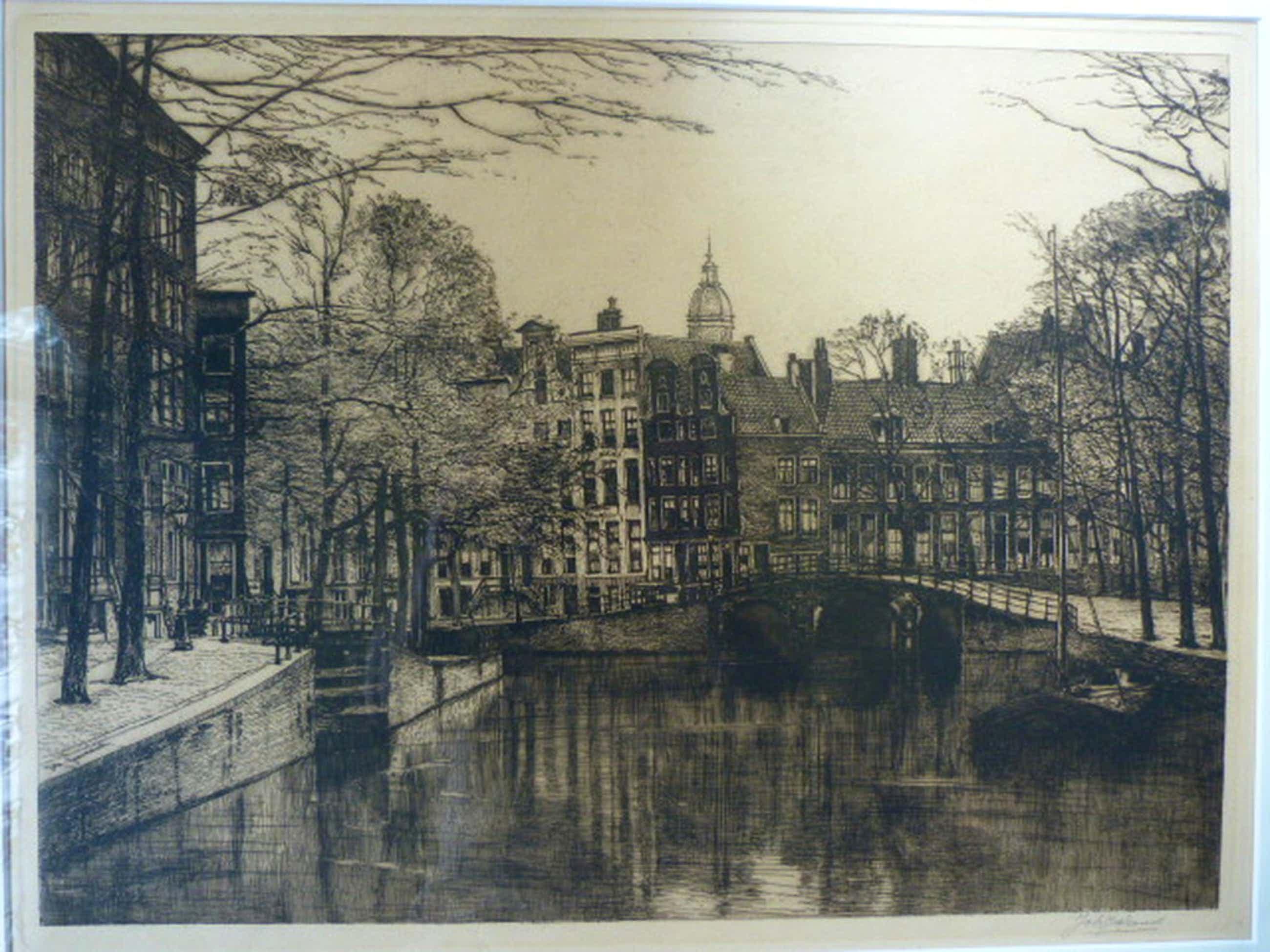 Johannes Josseaud (1880-1935) - Grachtengezicht – Amsterdam kopen? Bied vanaf 81!