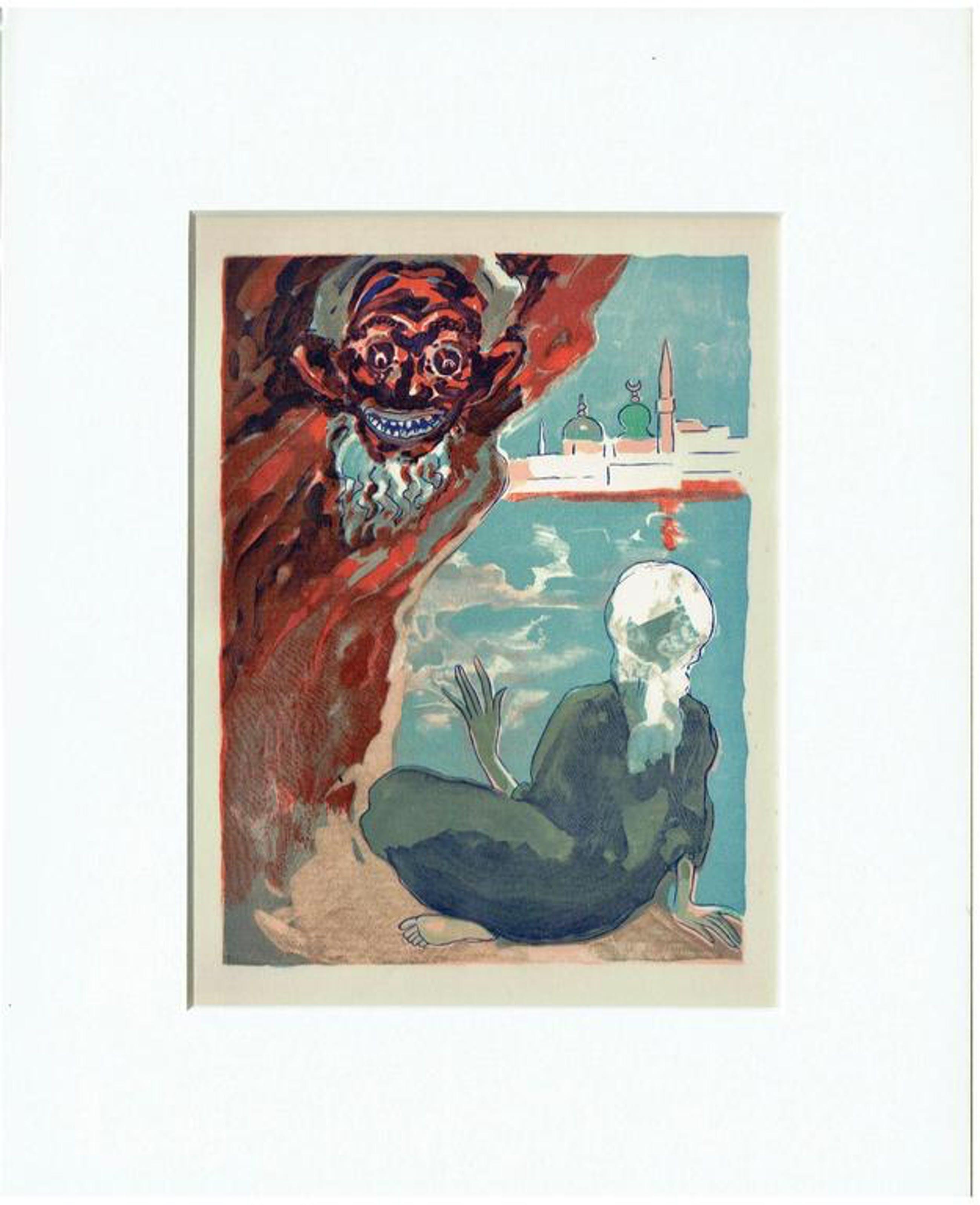 Kees van Dongen - Houtgravure- Aladdin et L'efrit noir kopen? Bied vanaf 1!