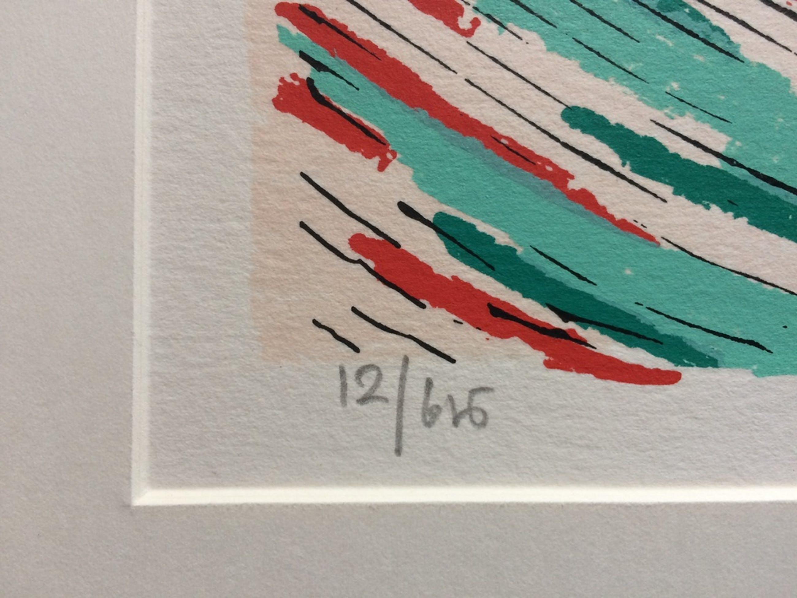 Hans Wap, zeefdruk 'Two Cones' 1988 kopen? Bied vanaf 20!